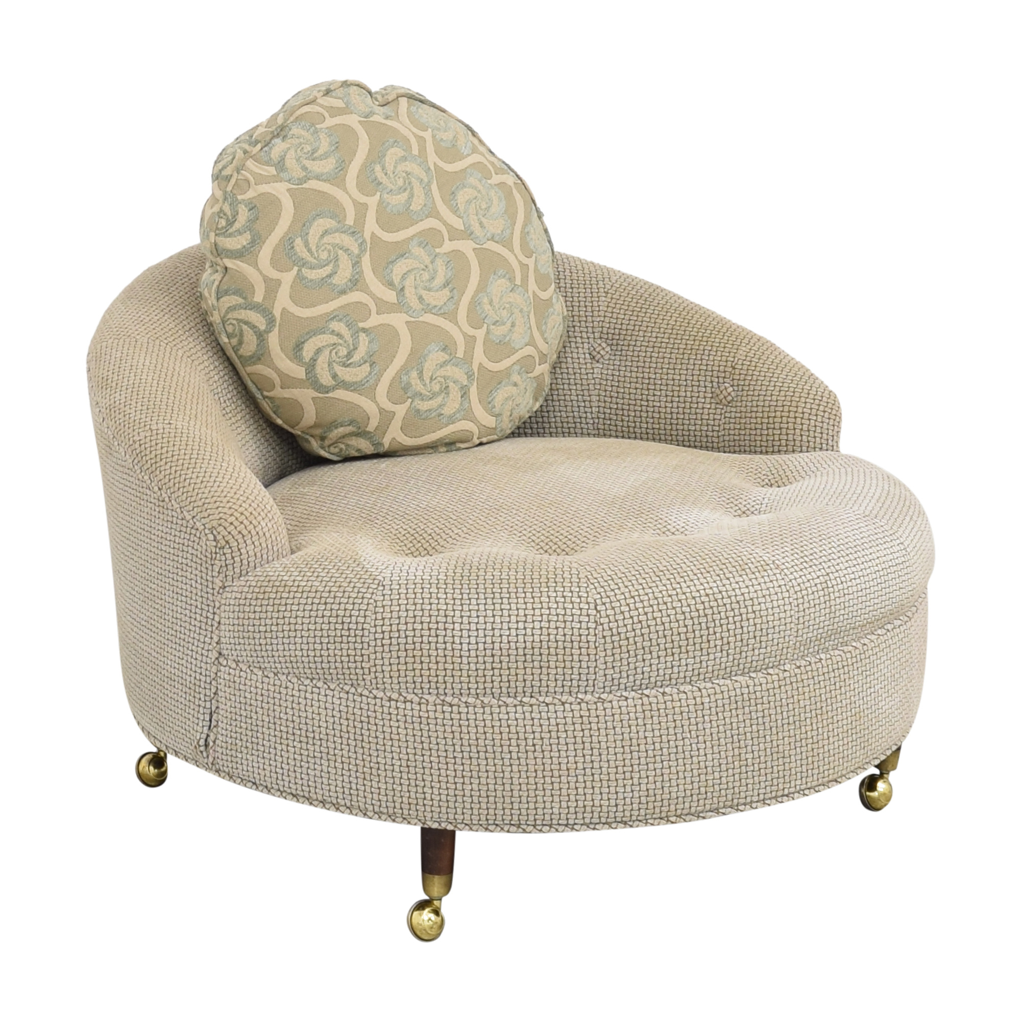 Tufted Barrel Lounge Chair used