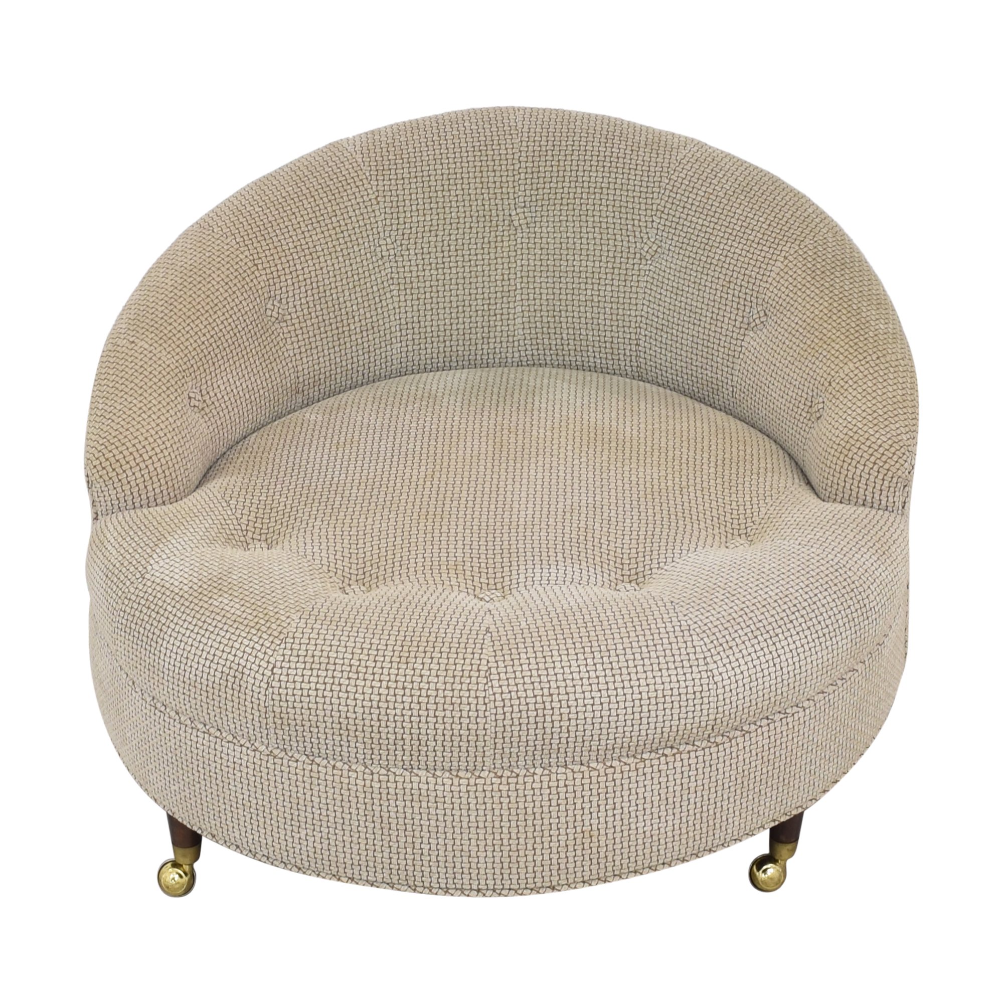 Tufted Barrel Lounge Chair