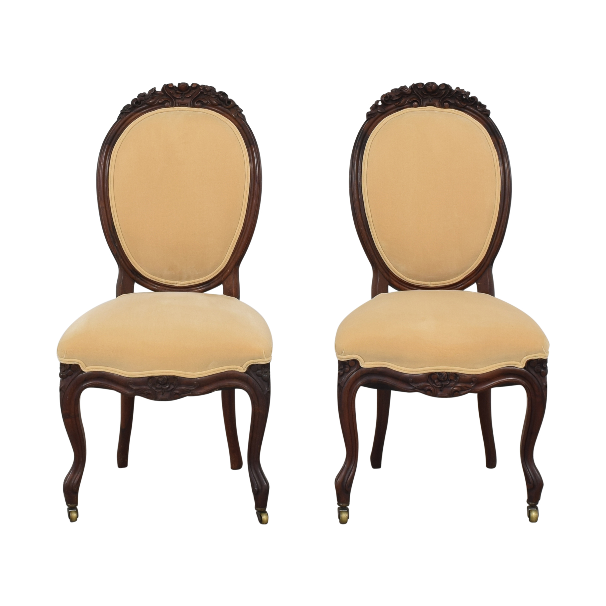 Rounded Back Upholstered Side Chairs nyc