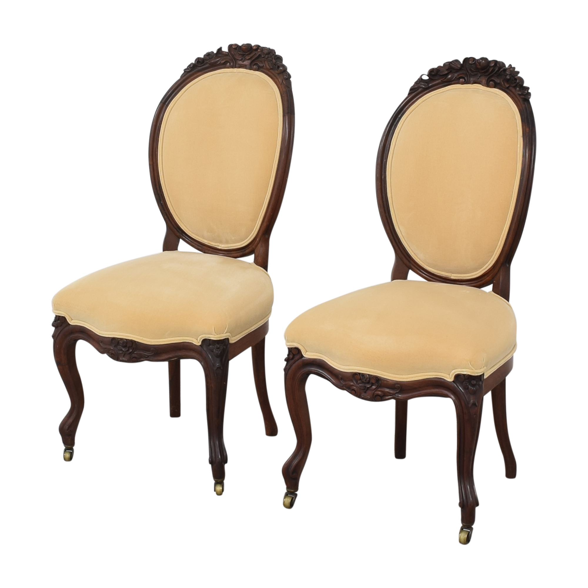 Rounded Back Upholstered Side Chairs / Dining Chairs