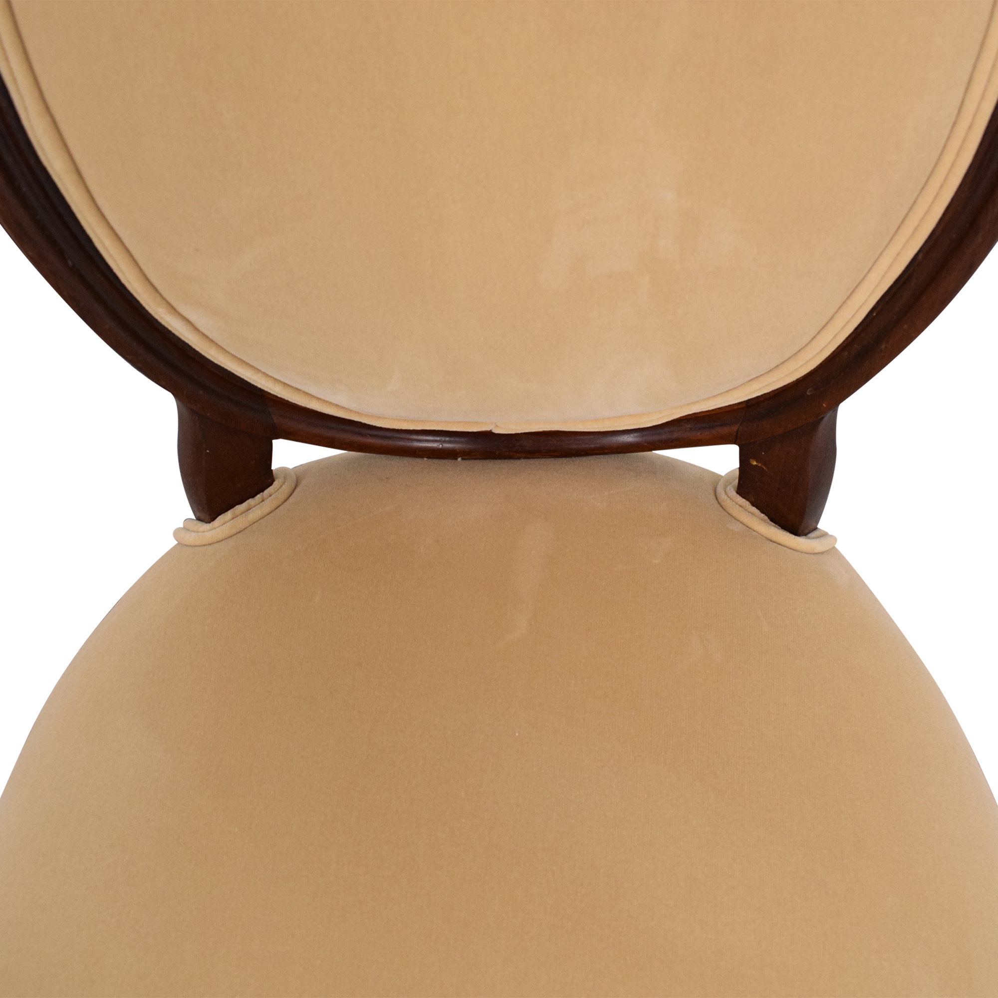 Rounded Back Upholstered Side Chairs Dining Chairs