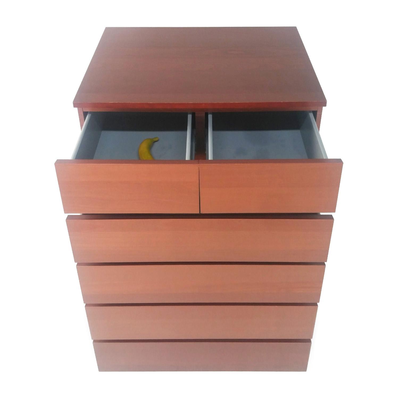 IKEA Malm 6 Drawer Dresser used