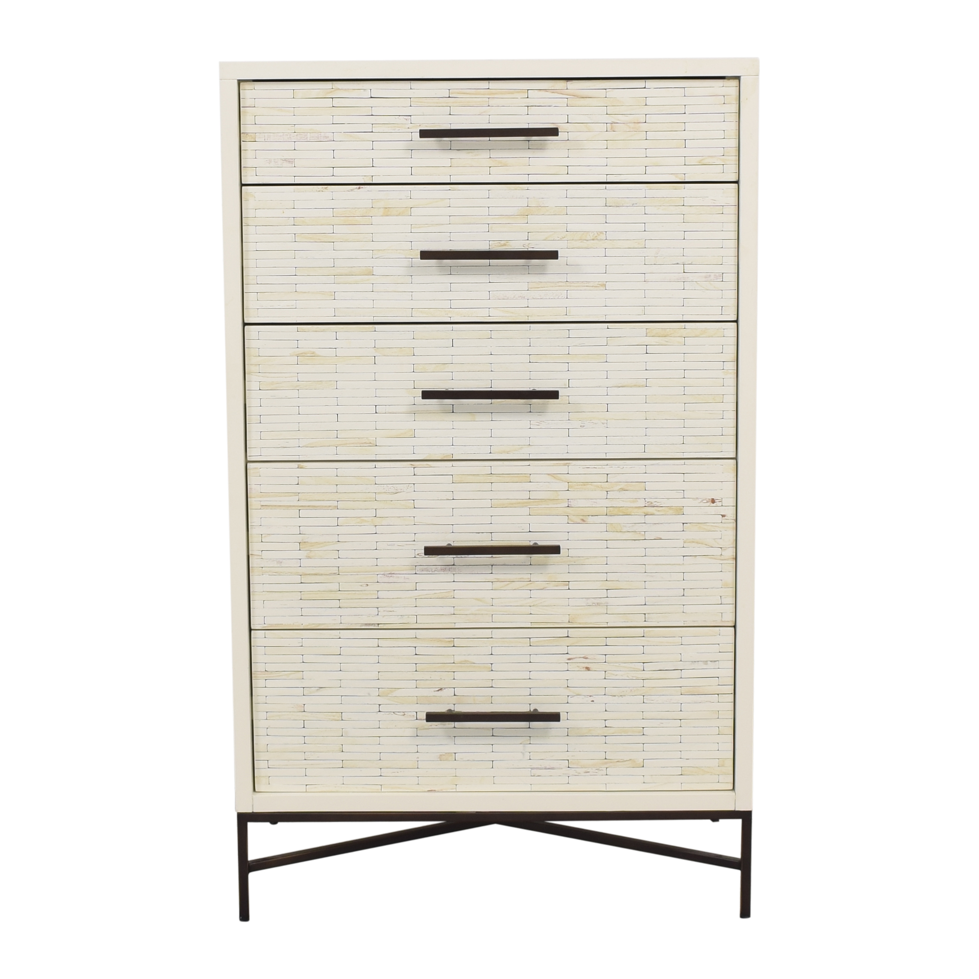 West Elm West Elm Wood Tiled 5-Drawer Dresser ct