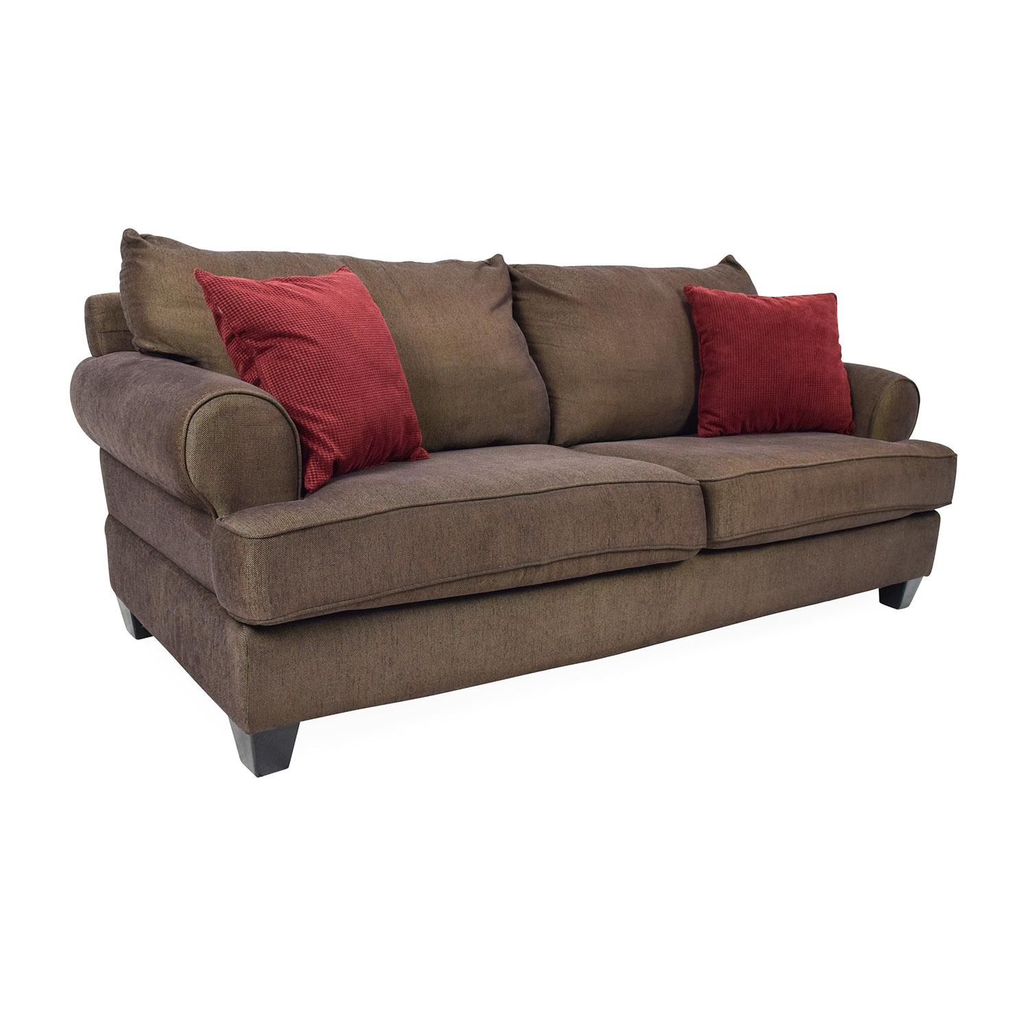 Second Hand Leather Sofas Somerset: Brown Fabric Sofa / Sofas