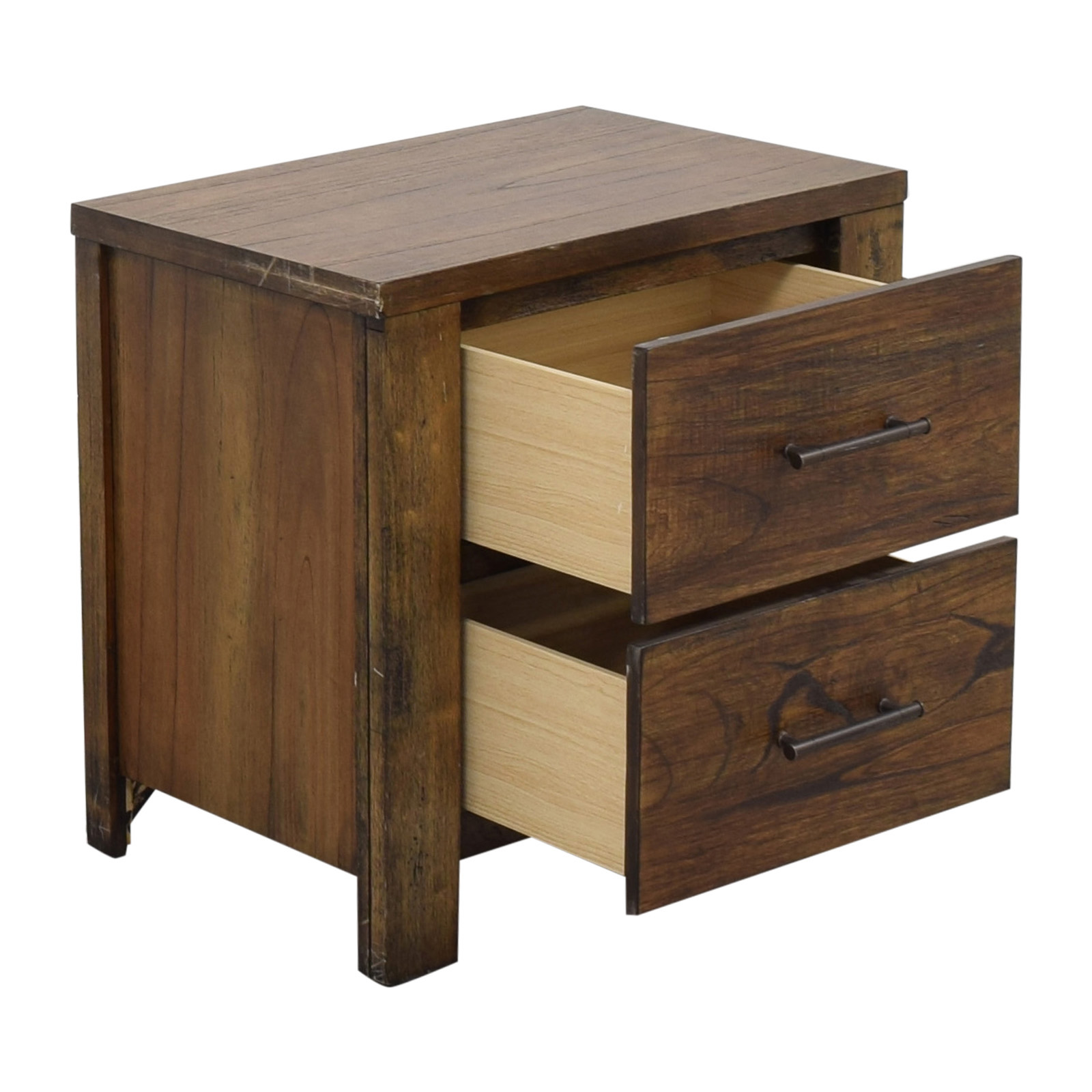 Macy's Two Drawer Nightstand / Tables