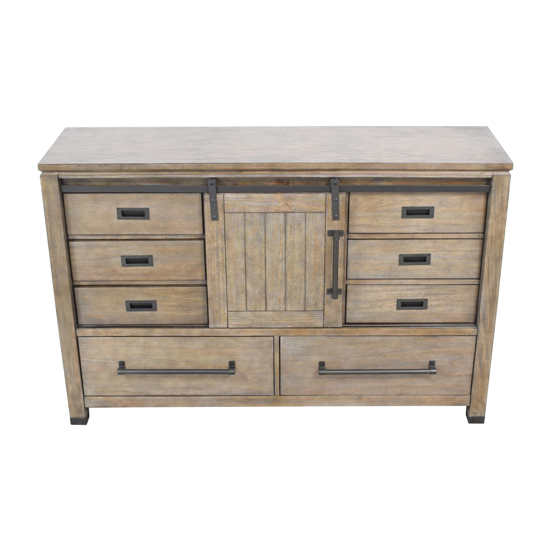 shop Coaster Fine Furniture Meester 8-Drawer Dresser Rustic Barn Door Coaster Fine Furniture Storage