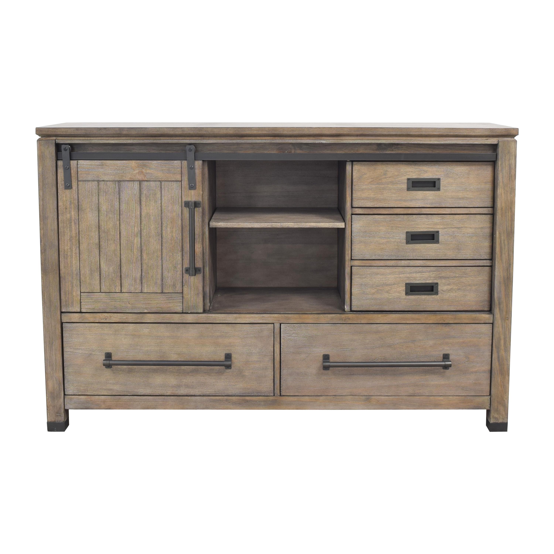 Coaster Fine Furniture Coaster Fine Furniture Meester 8-Drawer Dresser Rustic Barn Door ct