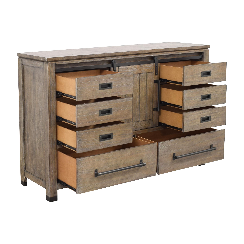 buy Coaster Fine Furniture Meester 8-Drawer Dresser Rustic Barn Door Coaster Fine Furniture