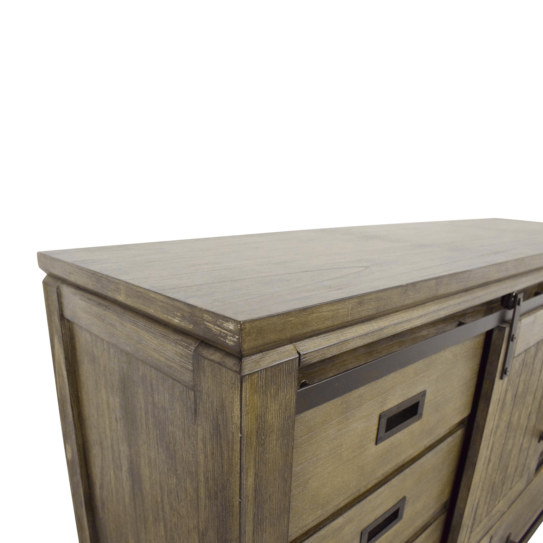 Coaster Fine Furniture Coaster Fine Furniture Meester 8-Drawer Dresser Rustic Barn Door nj