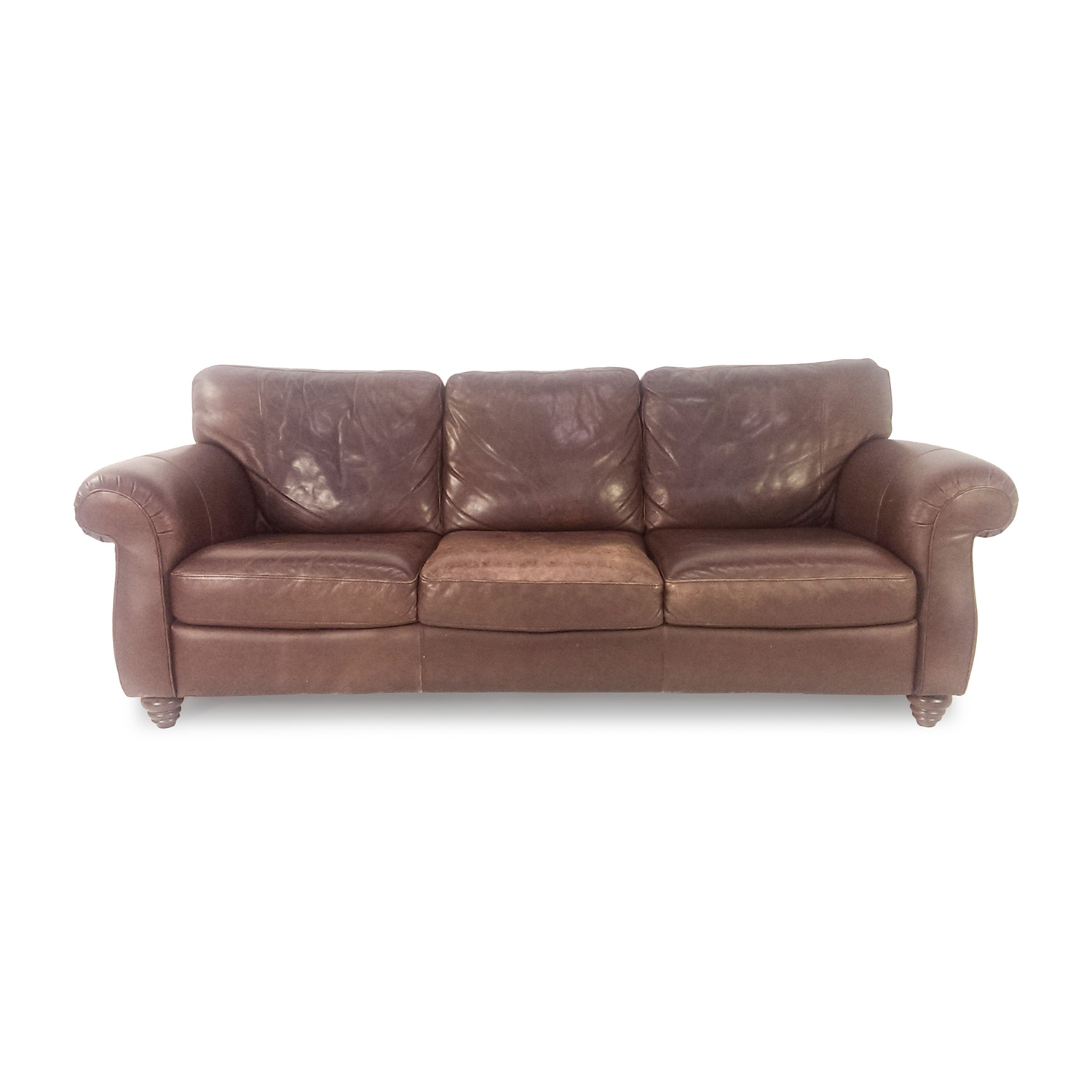85% OFF - Natuzzi Natuzzi Brown Leather Couch / Sofas
