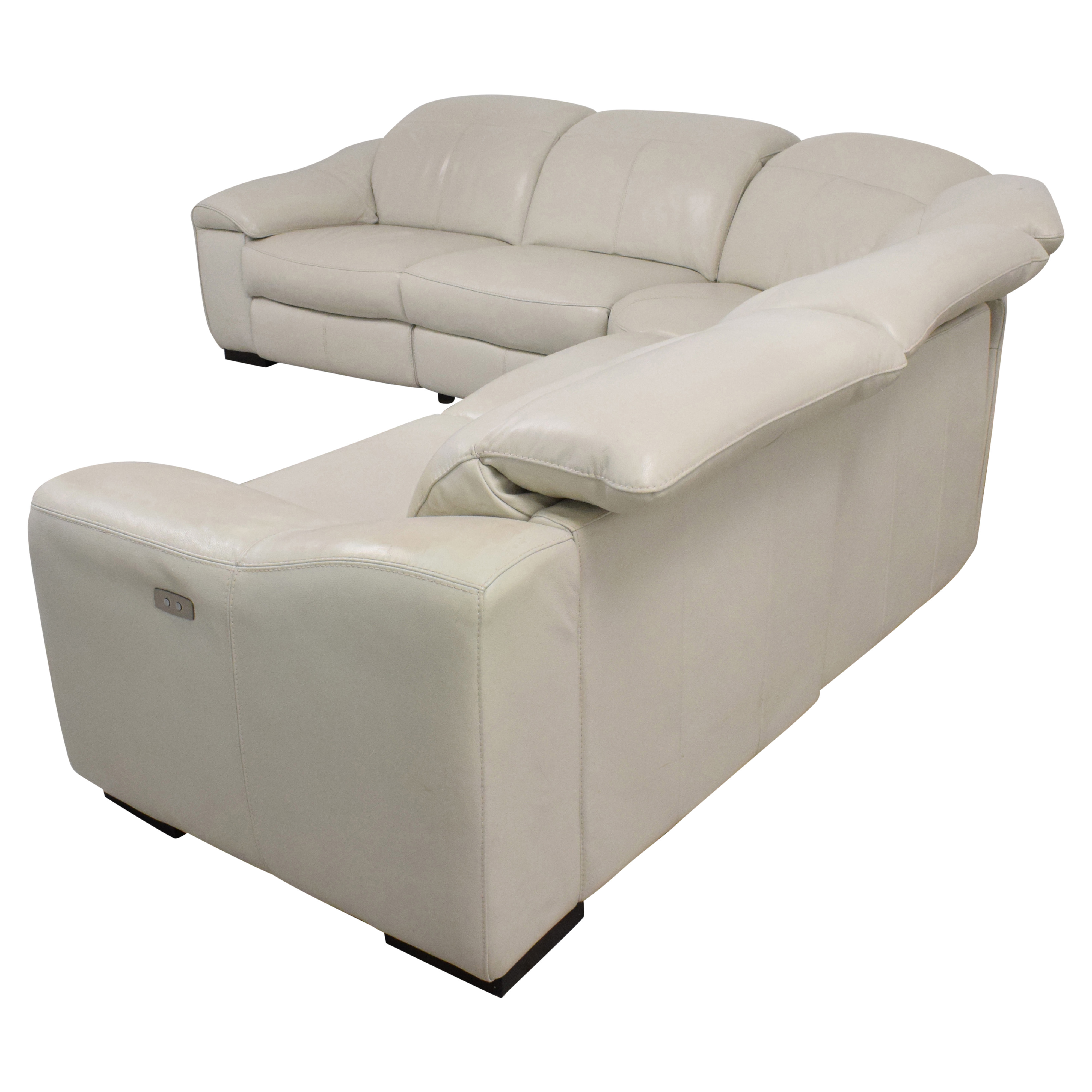 Macy's Macy's Power Reclining Sectional Sofa off white