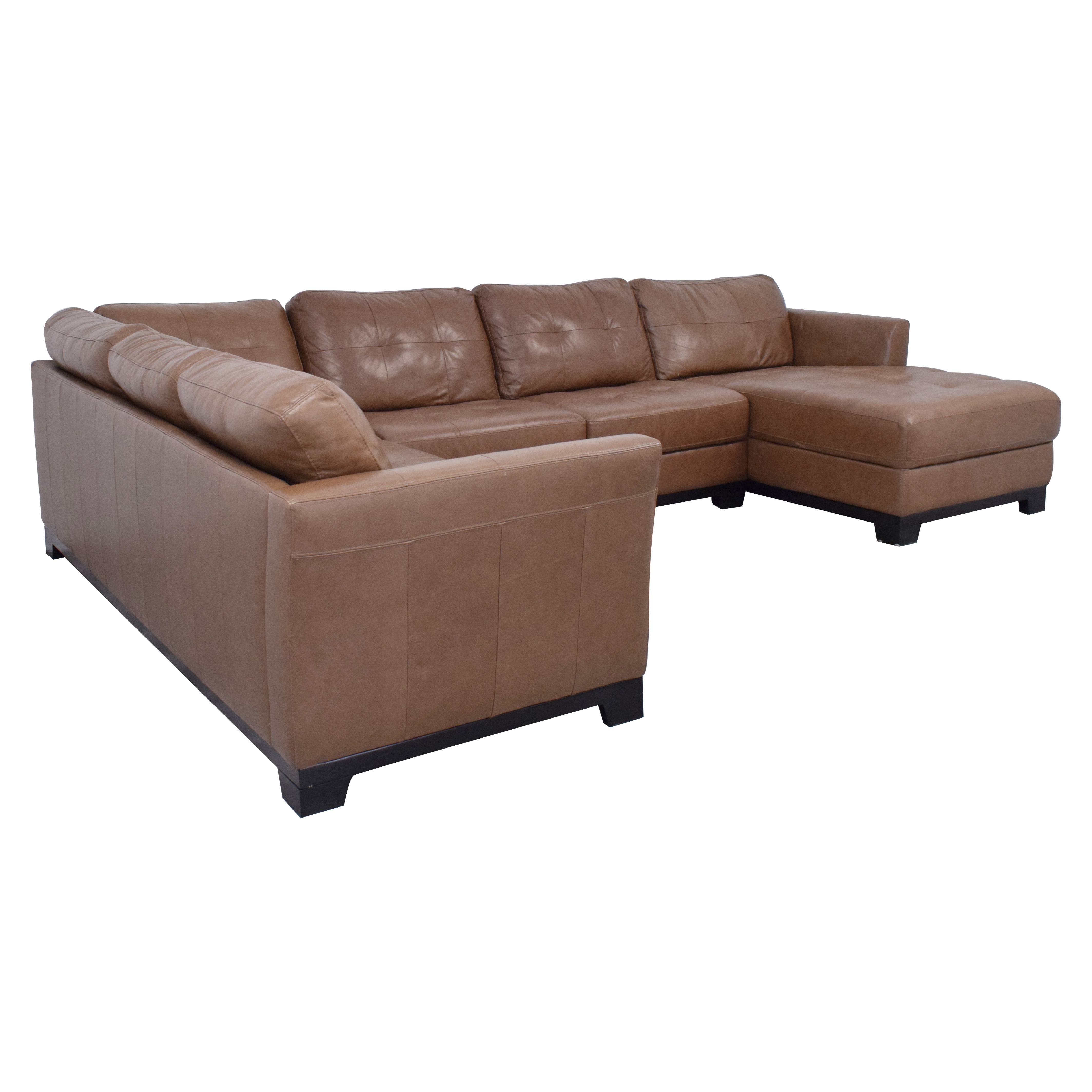 Chateau d'Ax Chateau d'Ax Sectional Sofa with Chaise brown