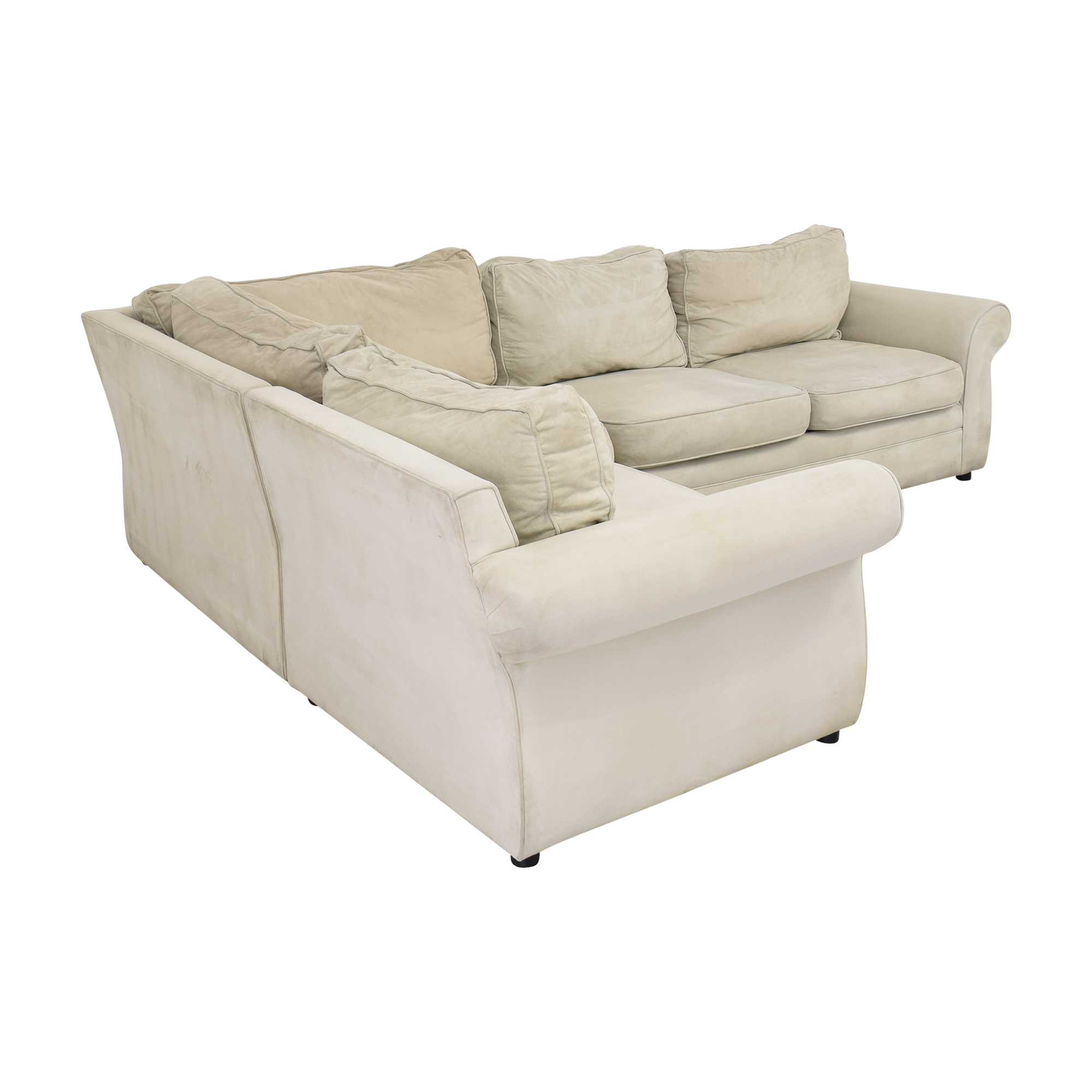buy Pottery Barn Pearce Roll Arm Wedge Sectional Pottery Barn Sofas