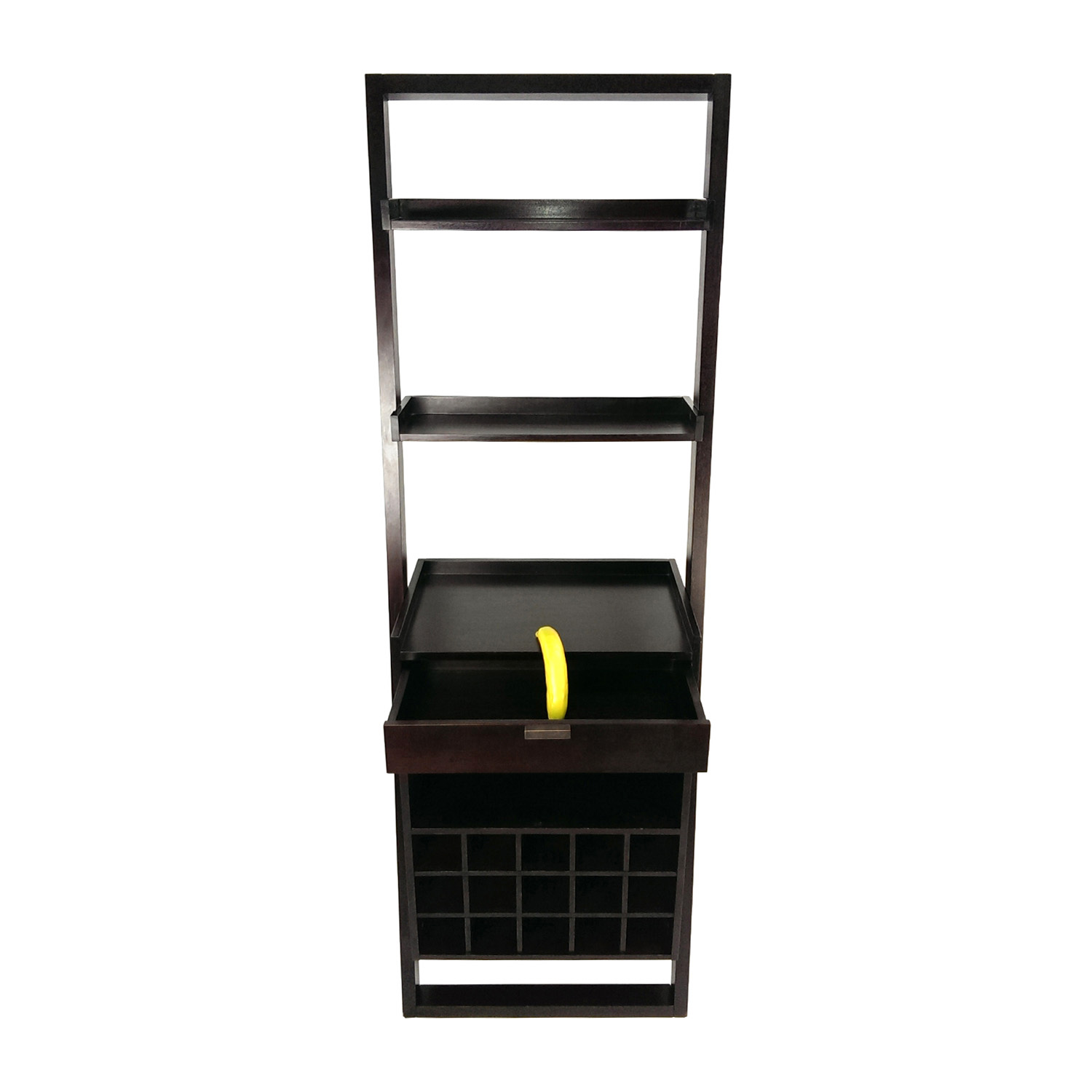 shop Crate and Barrel Leaning Wine Rack Crate and Barrel Bookcases & Shelving