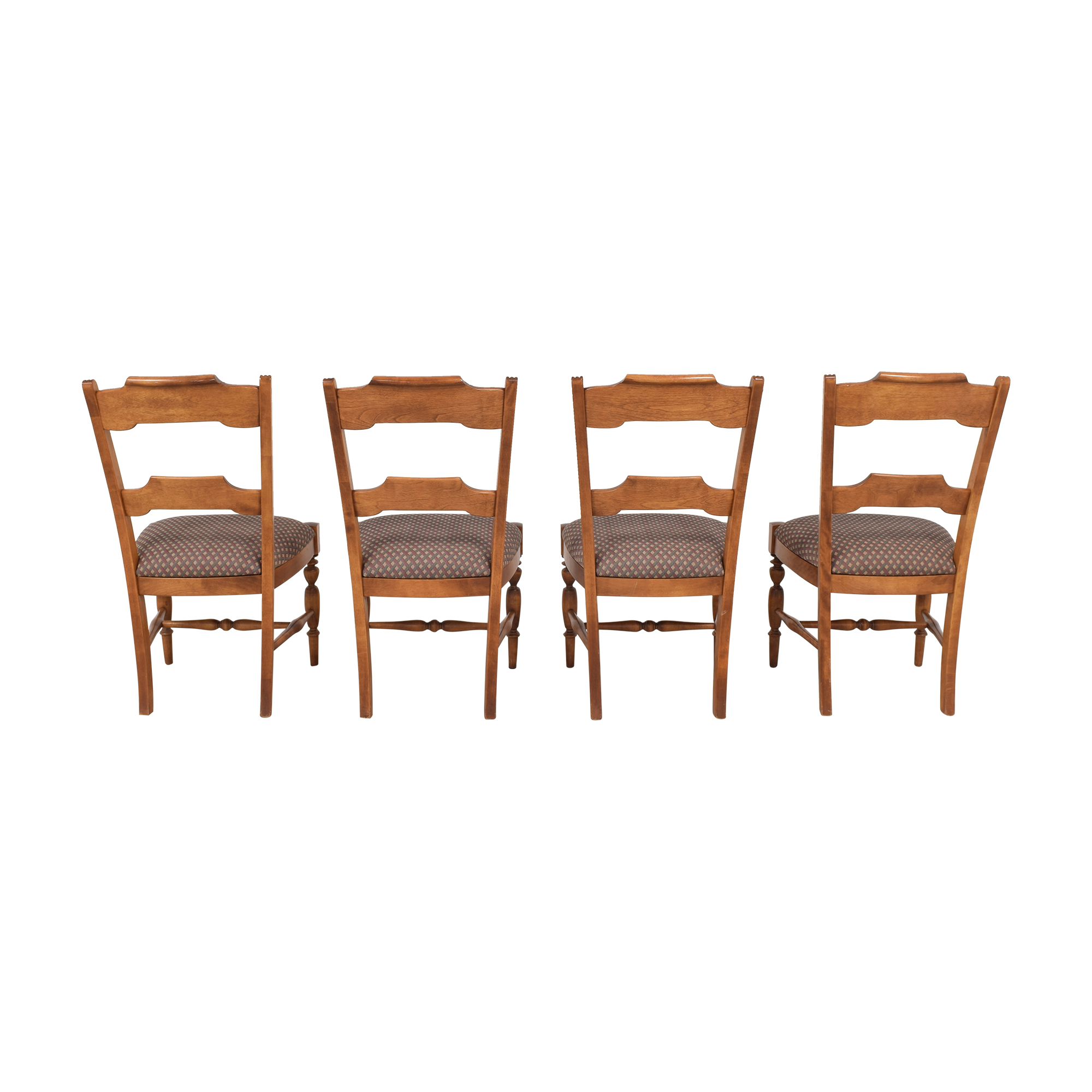 Nichols & Stone Nichols & Stone Upholstered Dining Chairs brown, red & green