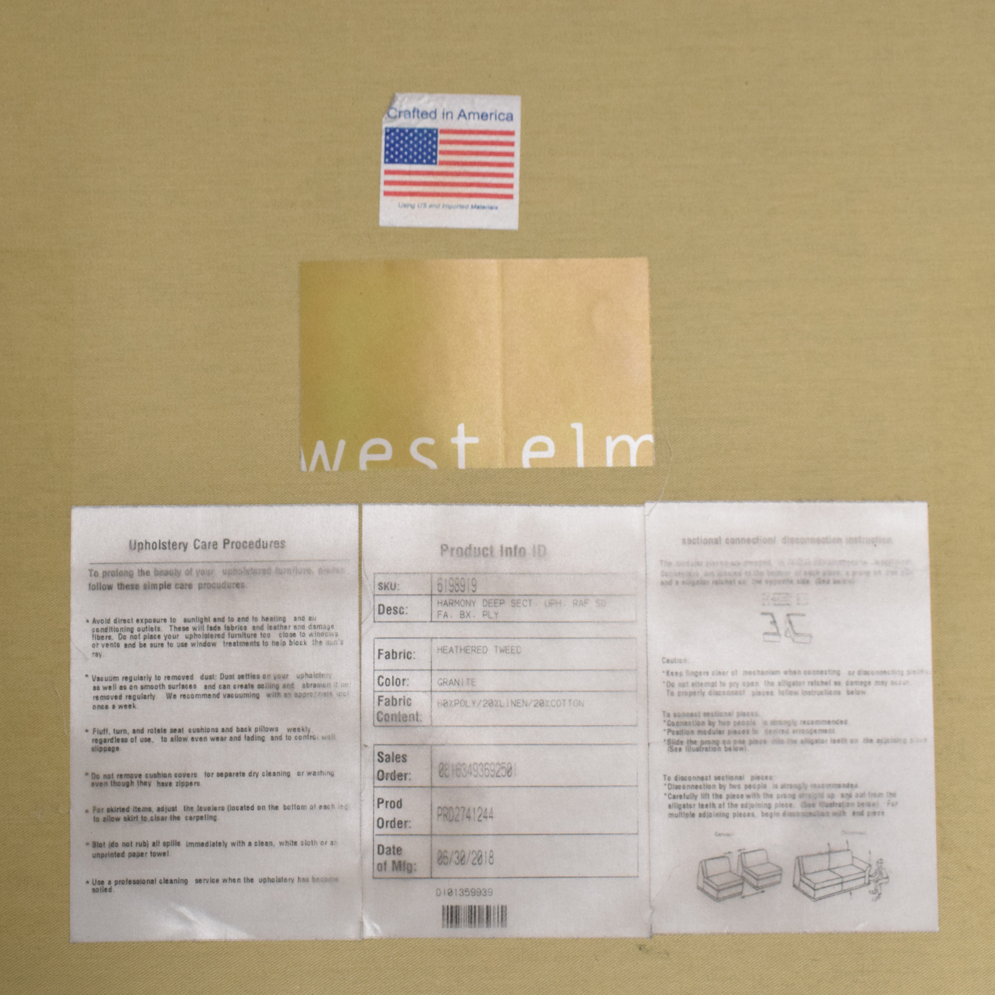 shop West Elm West Elm Harmony 3-Piece L-Shaped Sectional online