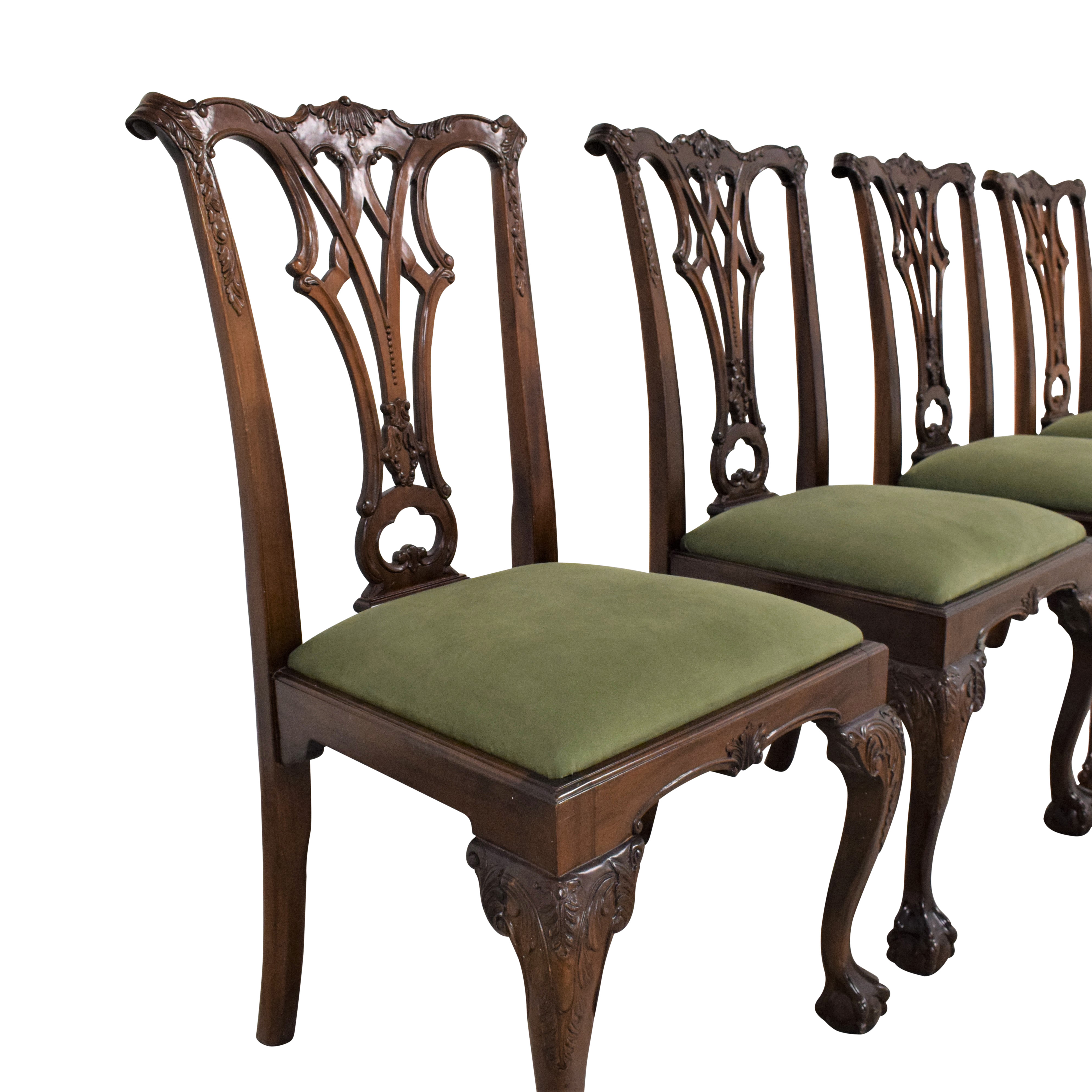 Greenbaum Interiors Queen Anne Style Dining Chairs discount