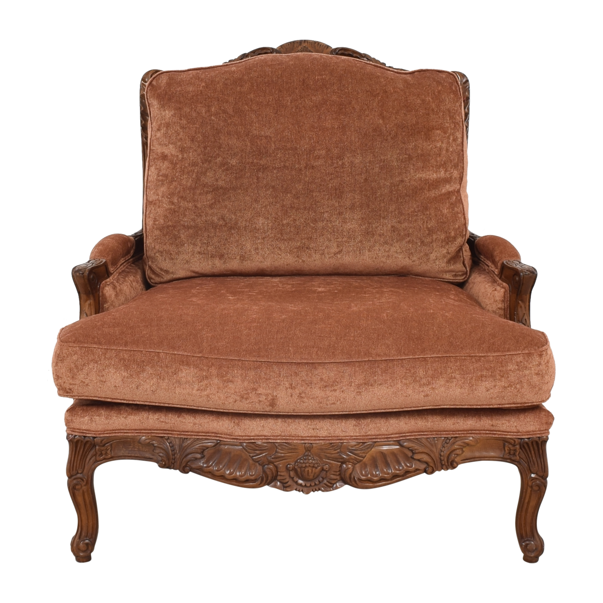 Zacksons Fine Furniture Zaksons Carved Lounge Chair on sale