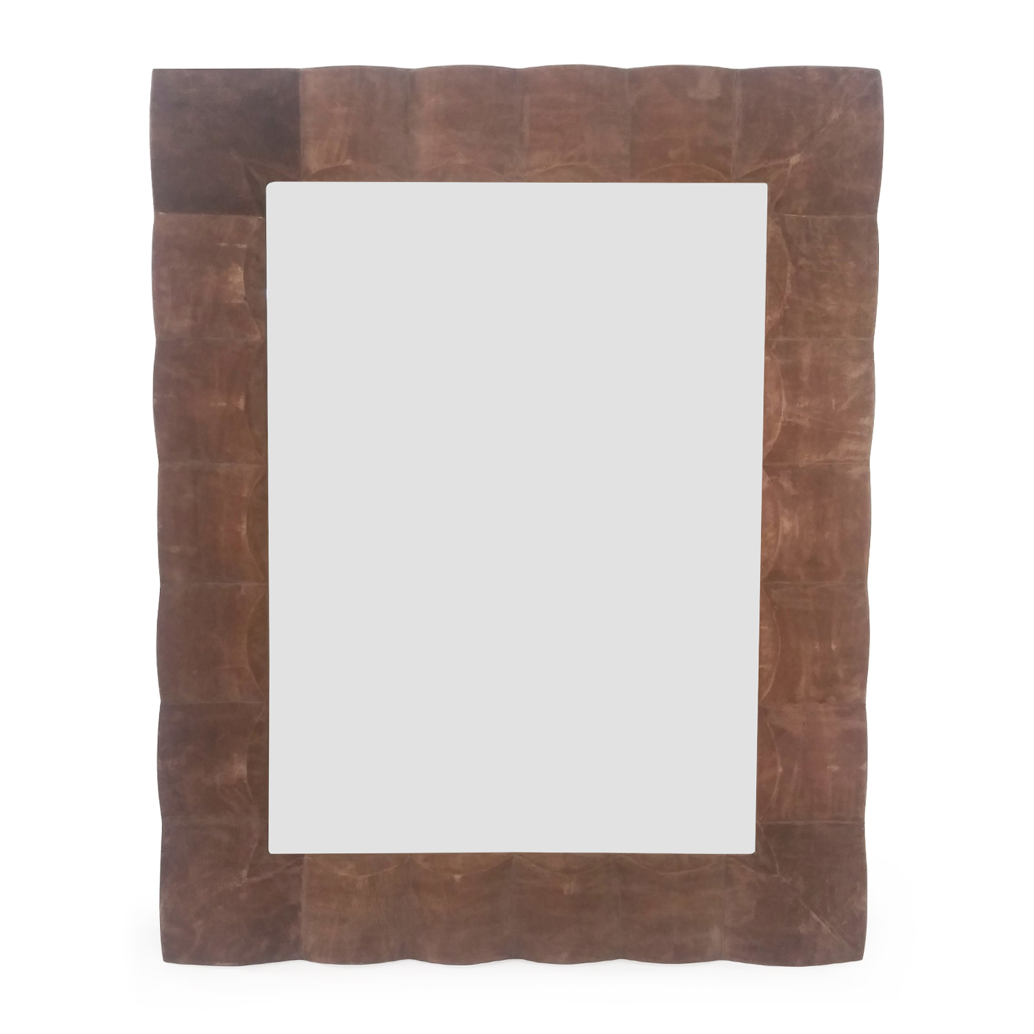Brown Suede Mirror for sale
