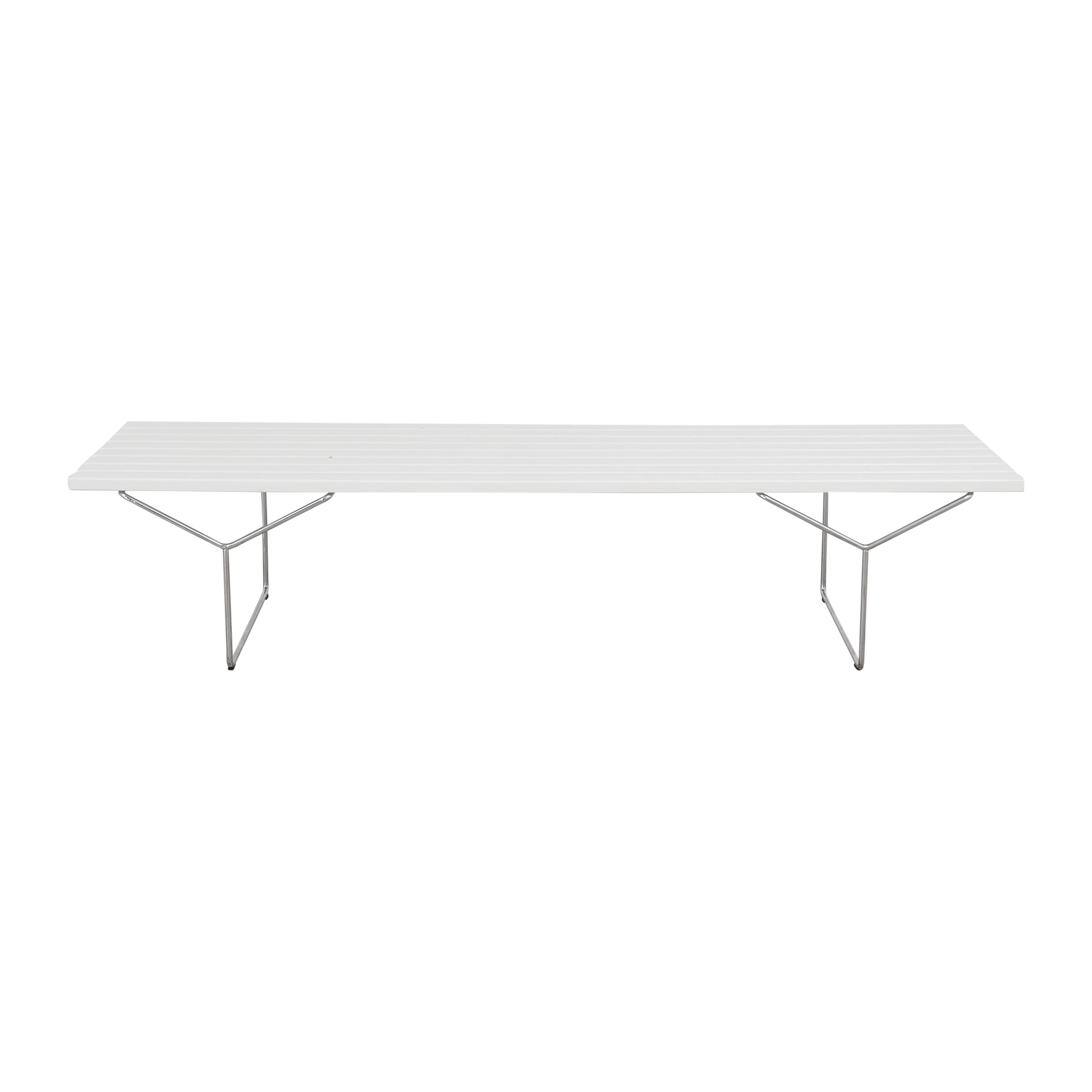 Knoll Knoll Harry Bertoia Bench white & silver