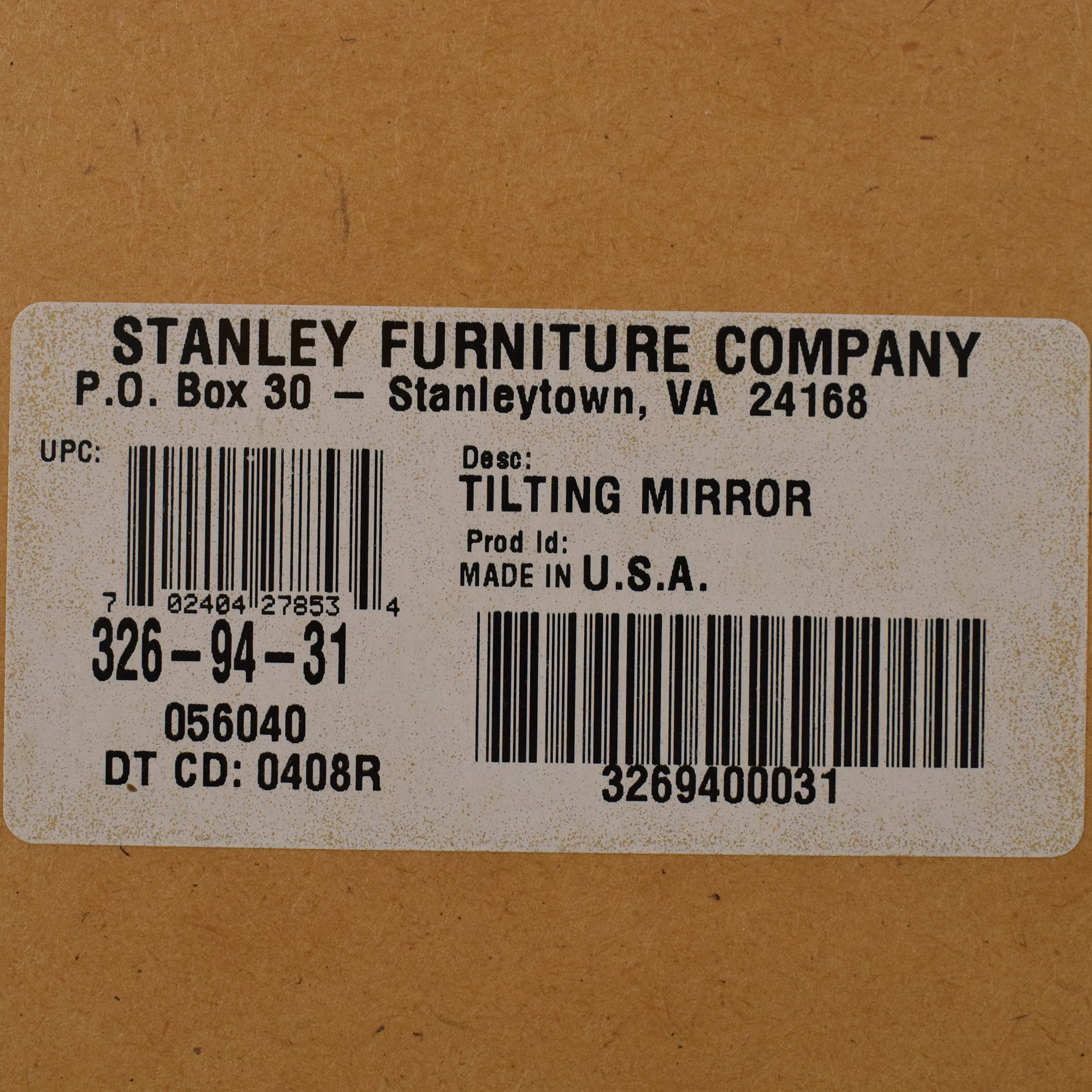 Stanley Furniture Young America Isabella Dresser with Tilting Mirror Stanley Furniture