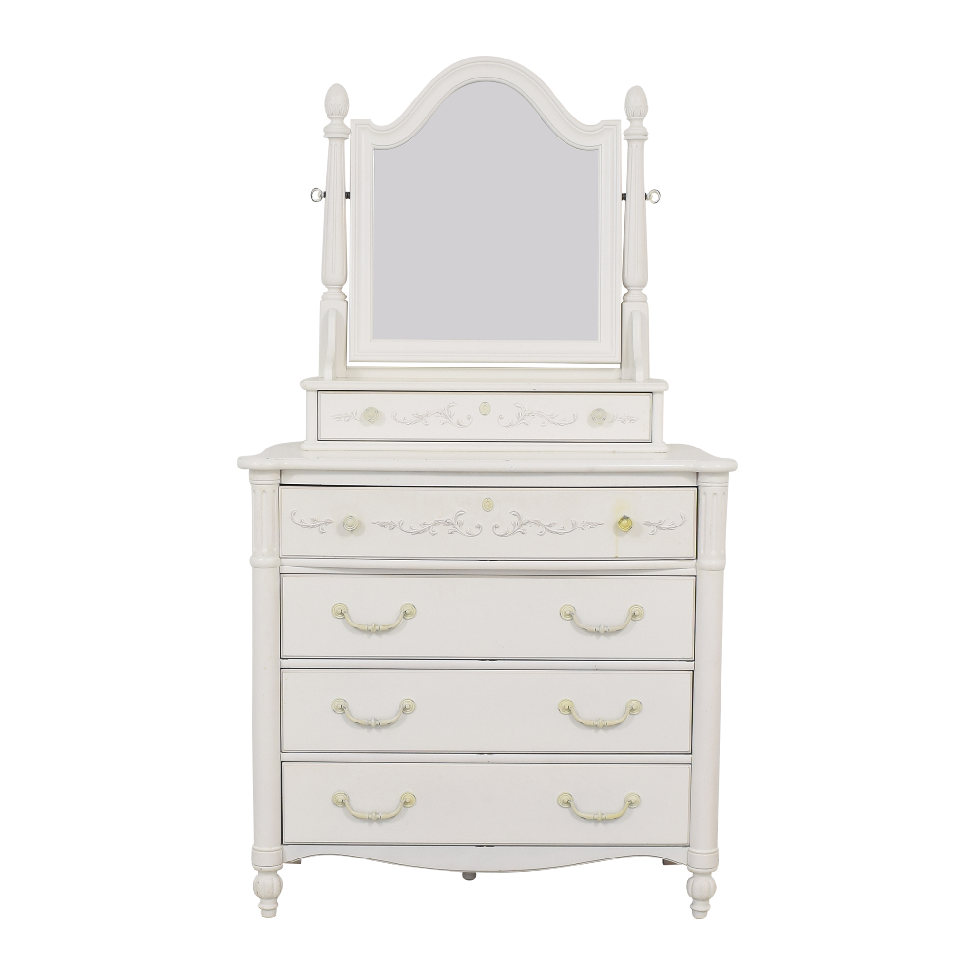 Stanley Furniture Stanley Furniture Young America Isabella Dresser with Tilting Mirror Storage