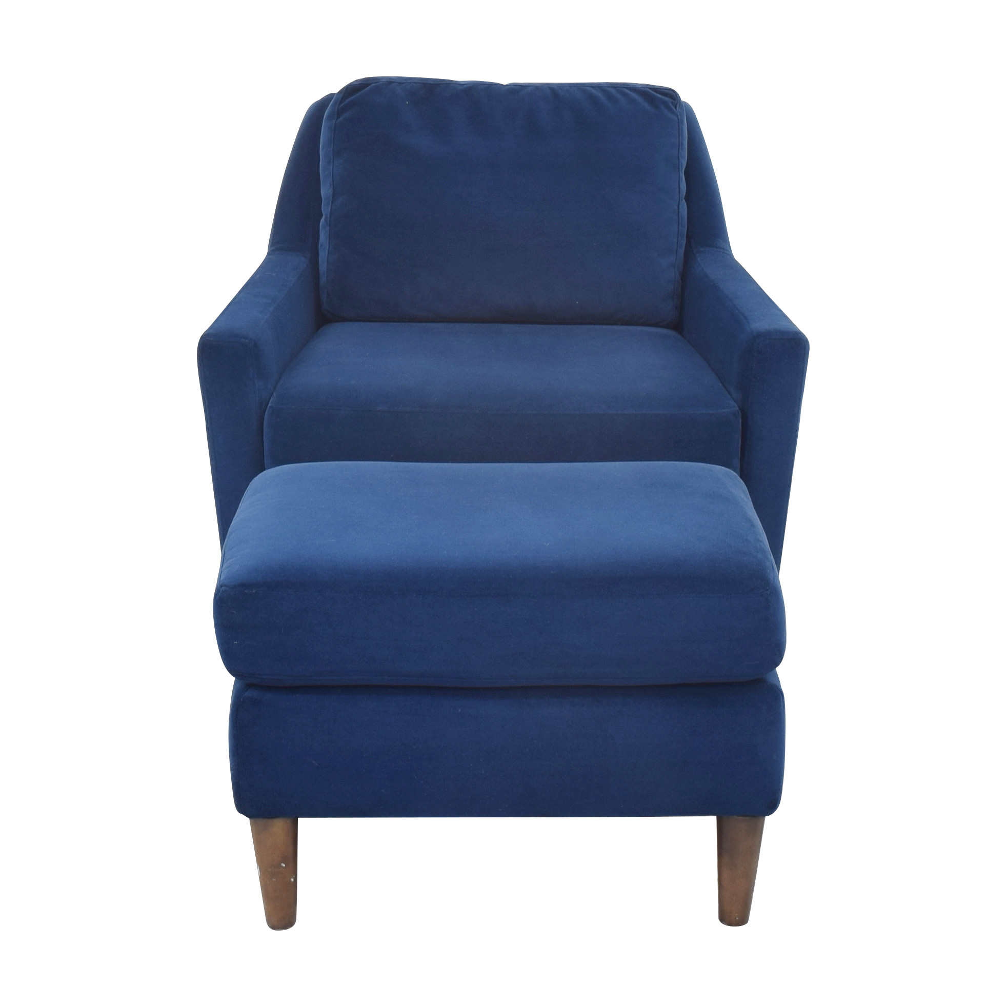 West Elm Everett Chair and Ottoman / Accent Chairs