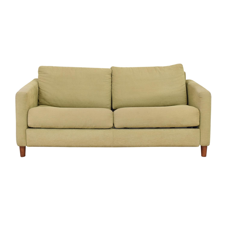 Bellini Bellini Two Cushion Sleeper Sofa Beige