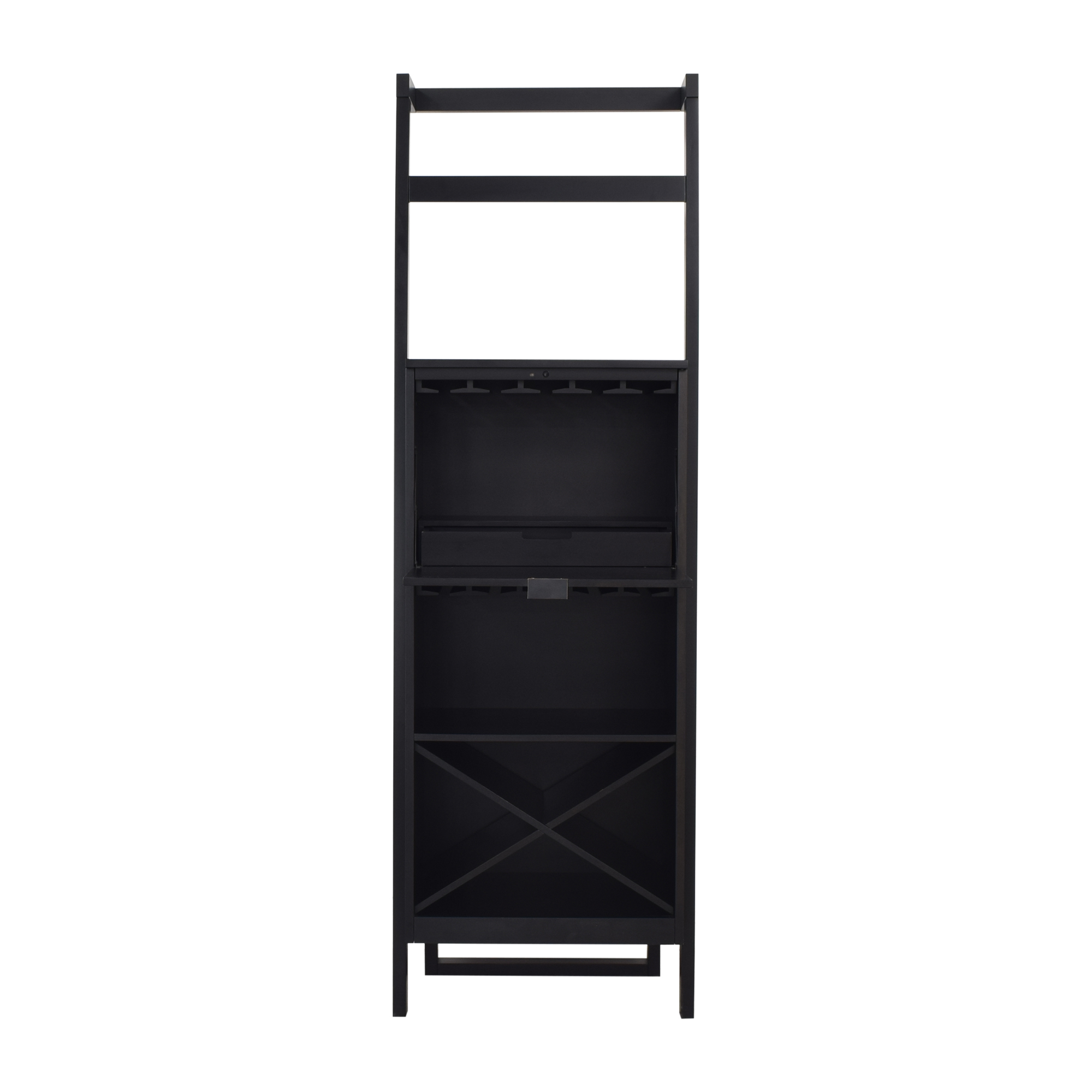 Crate & Barrel Crate & Barrel Sawyer Leaning Wine Bar Cabinets & Sideboards