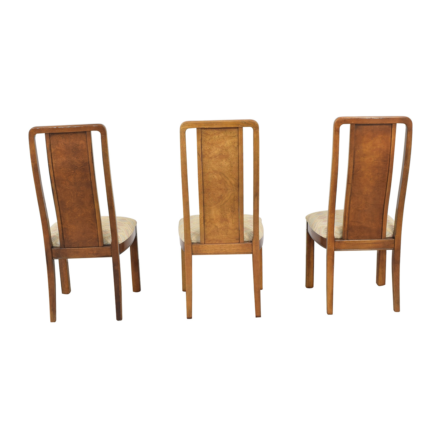 shop Thomasville Vintage Burled Dining Chairs Thomasville