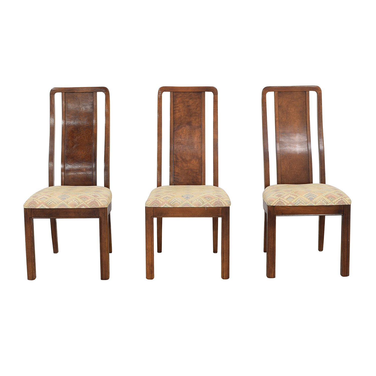 Thomasville Thomasville Vintage Burled Dining Chairs pa