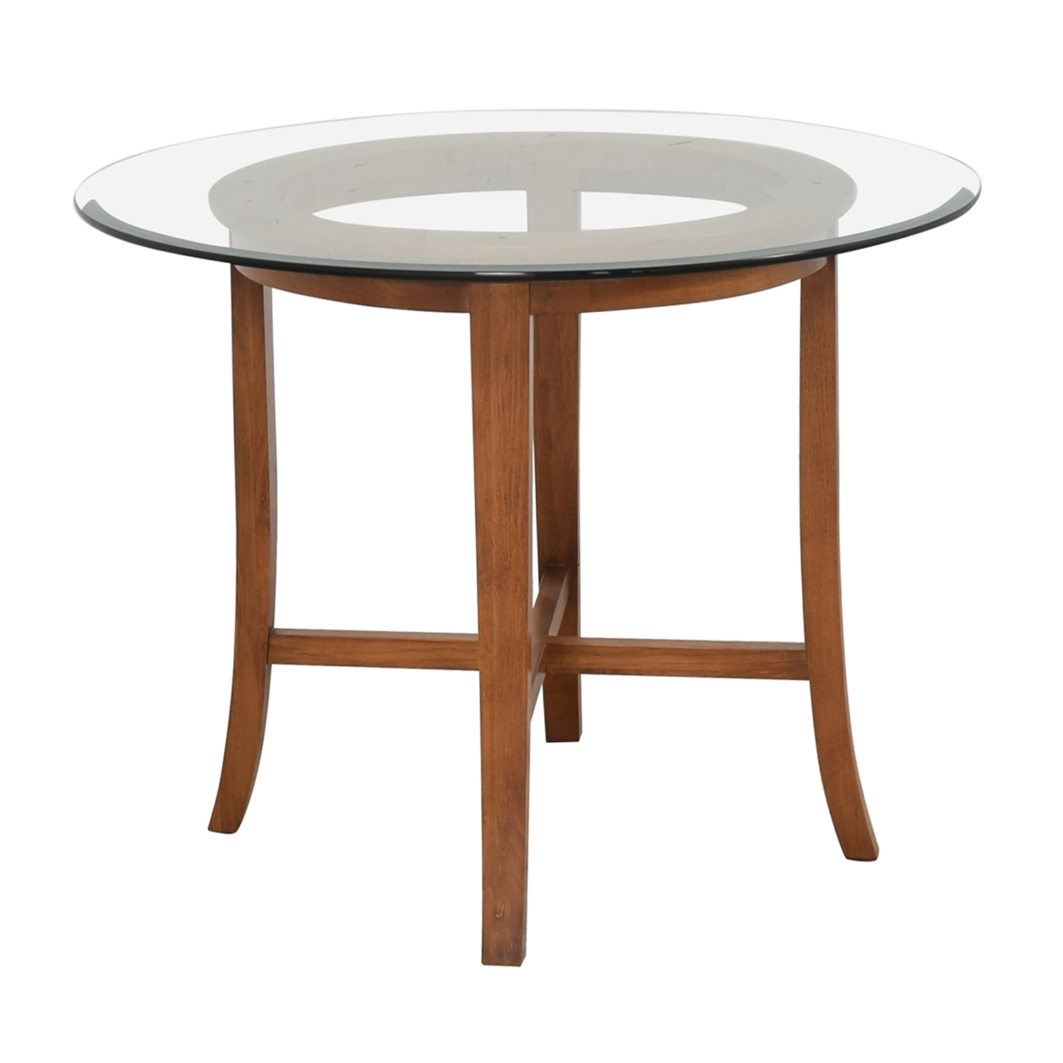 Crate & Barrel Crate & Barrel Halo Round Dining Table nyc