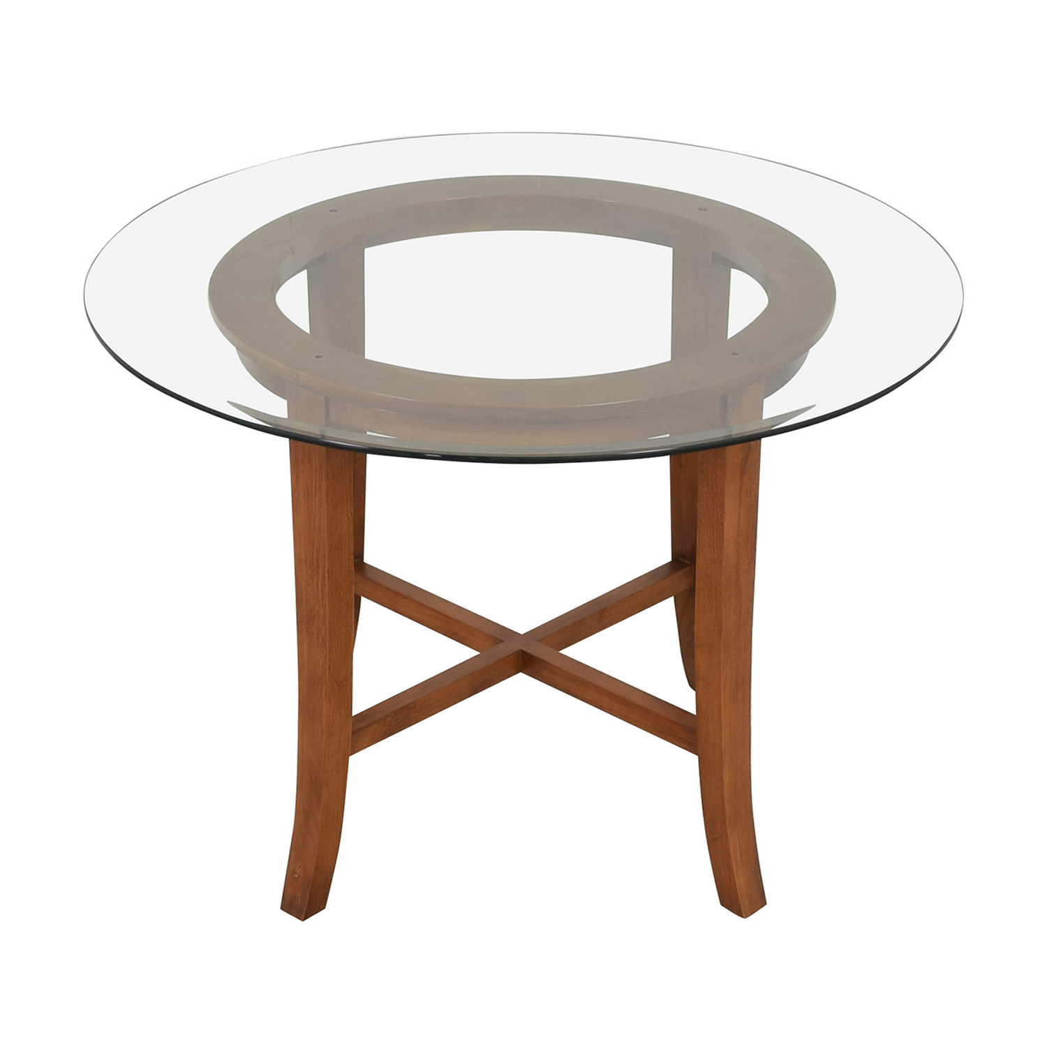 Crate & Barrel Crate & Barrel Halo Round Dining Table on sale