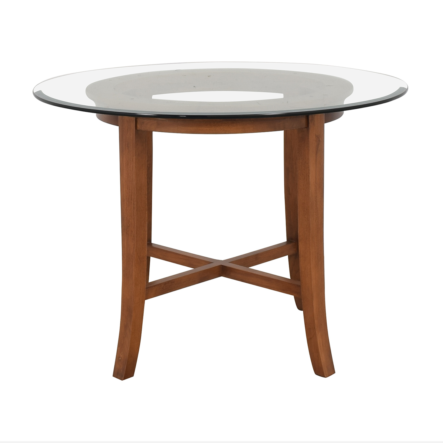 shop Crate & Barrel Halo Round Dining Table Crate & Barrel