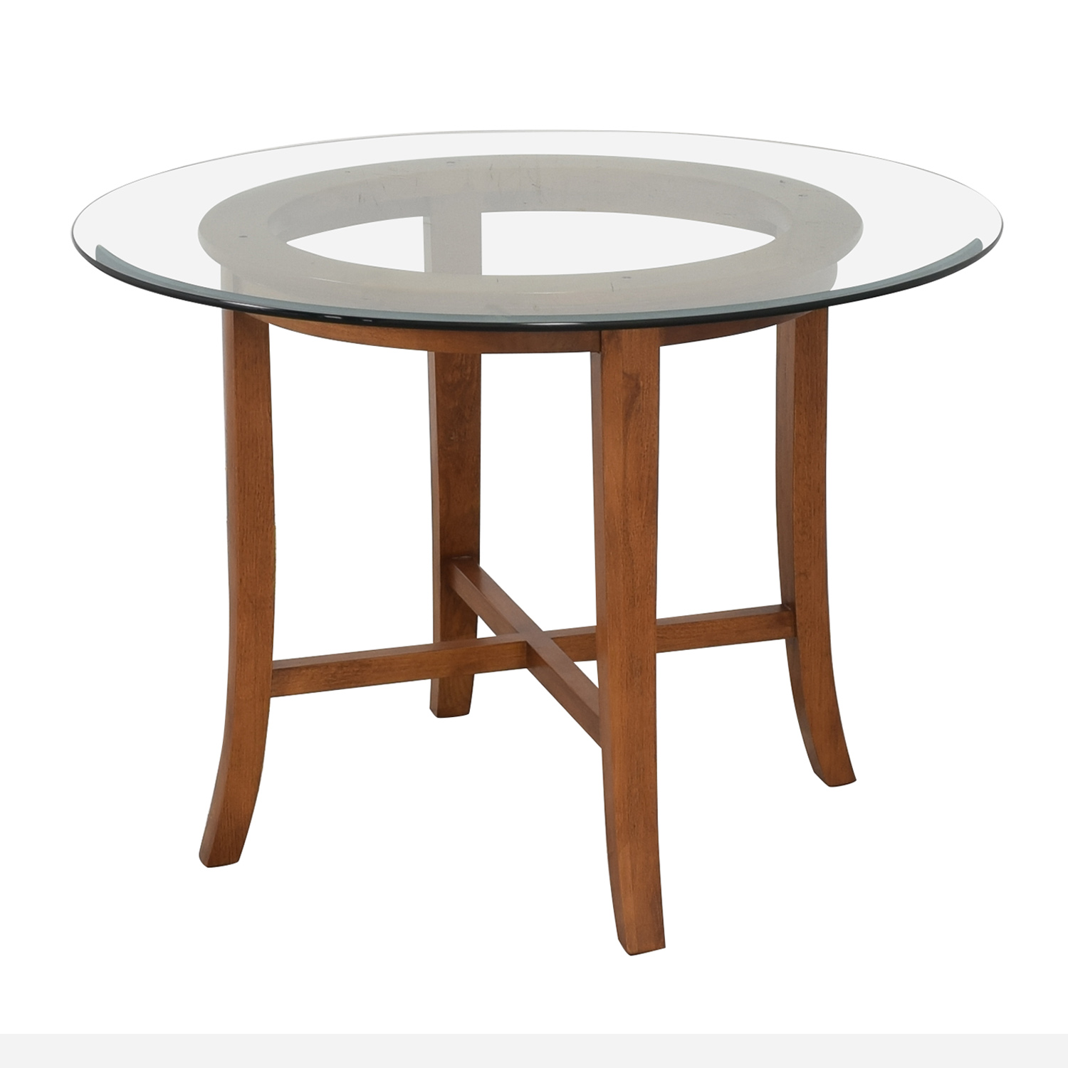 buy Crate & Barrel Halo Round Dining Table Crate & Barrel
