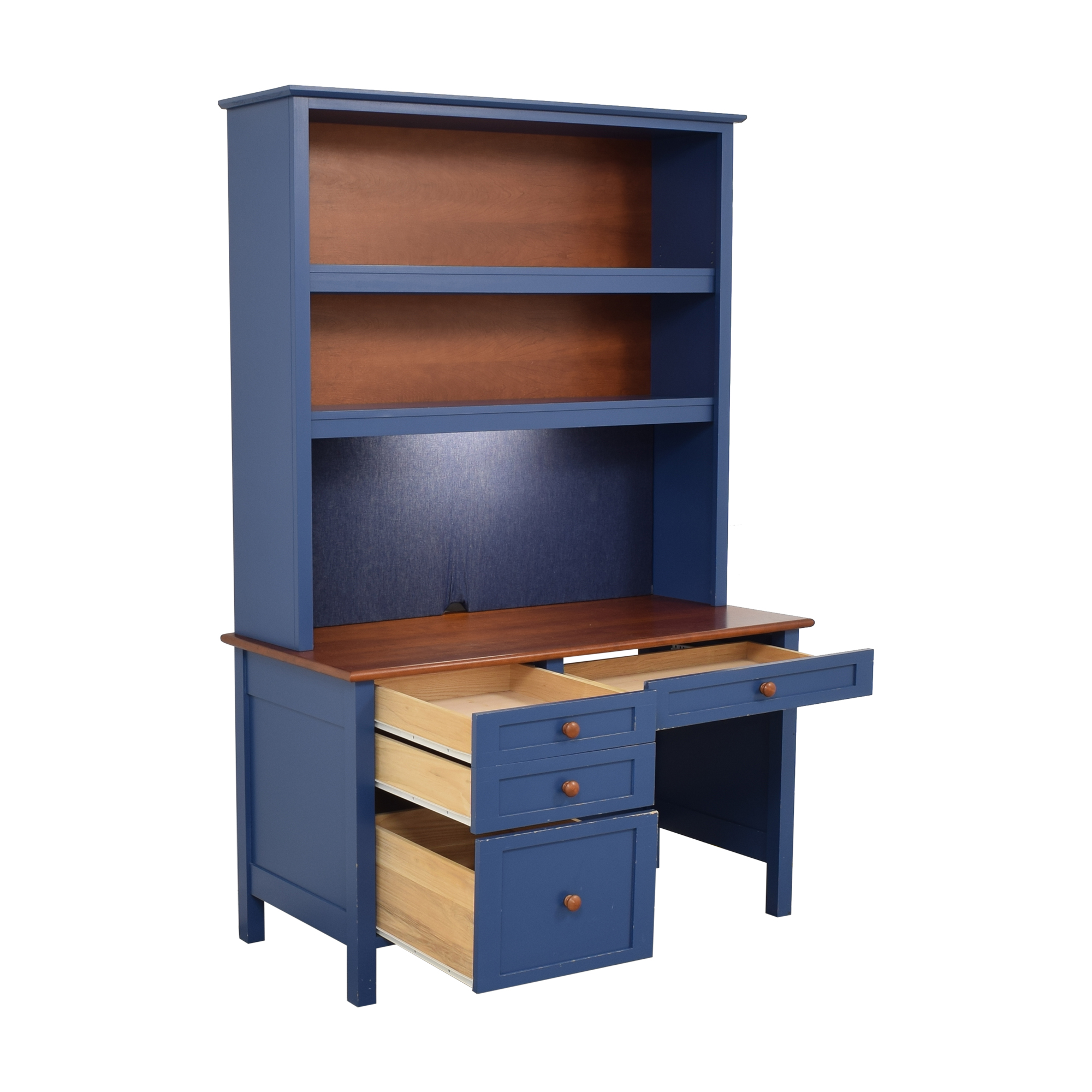 buy Four Drawer Desk with Hutch  Tables