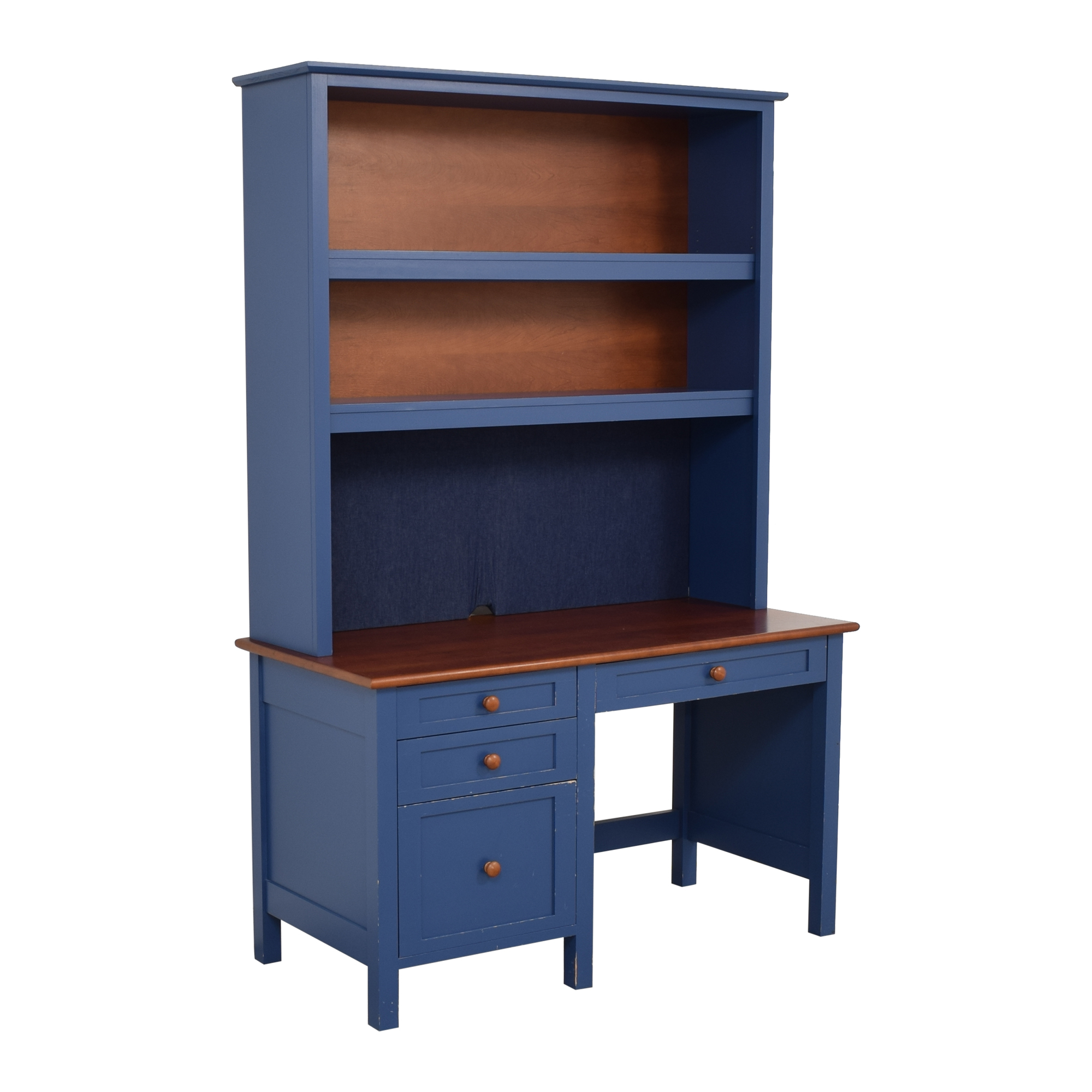 Four Drawer Desk with Hutch sale