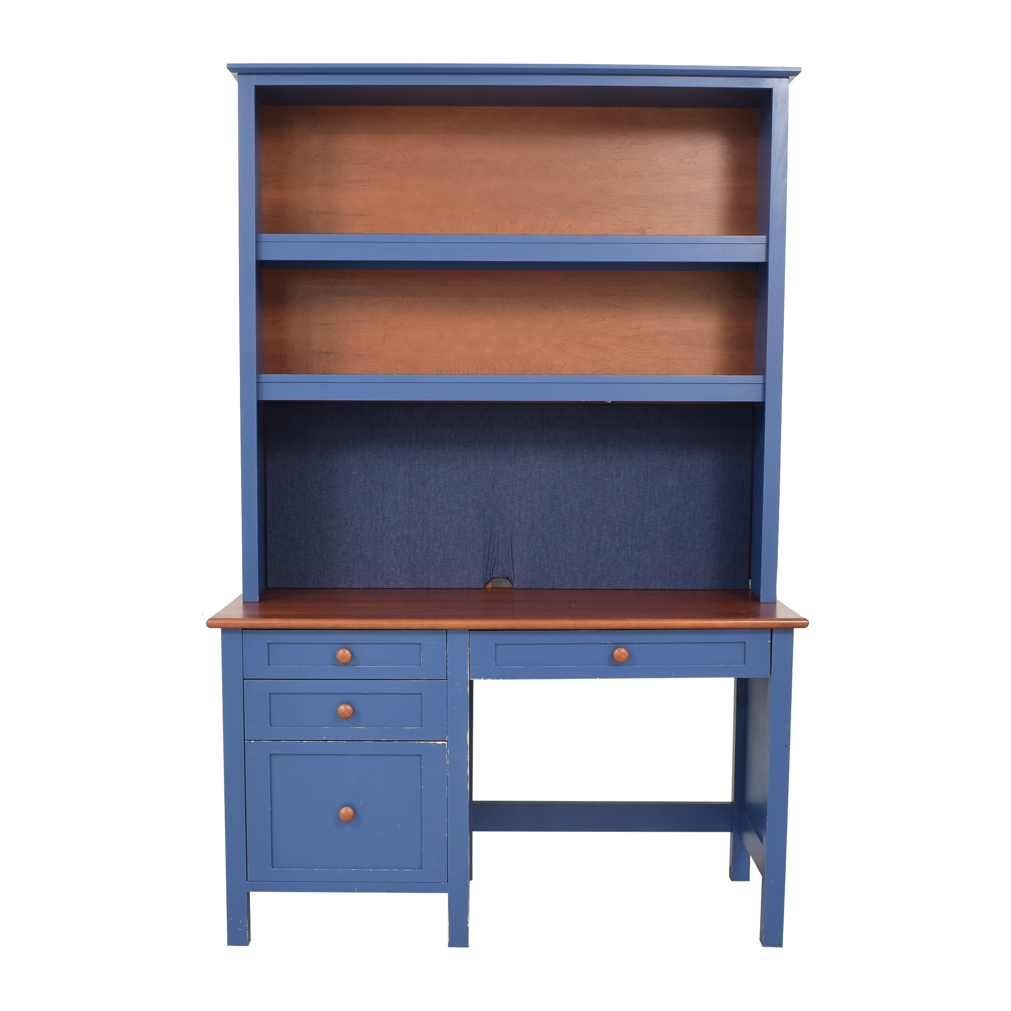 Four Drawer Desk with Hutch second hand