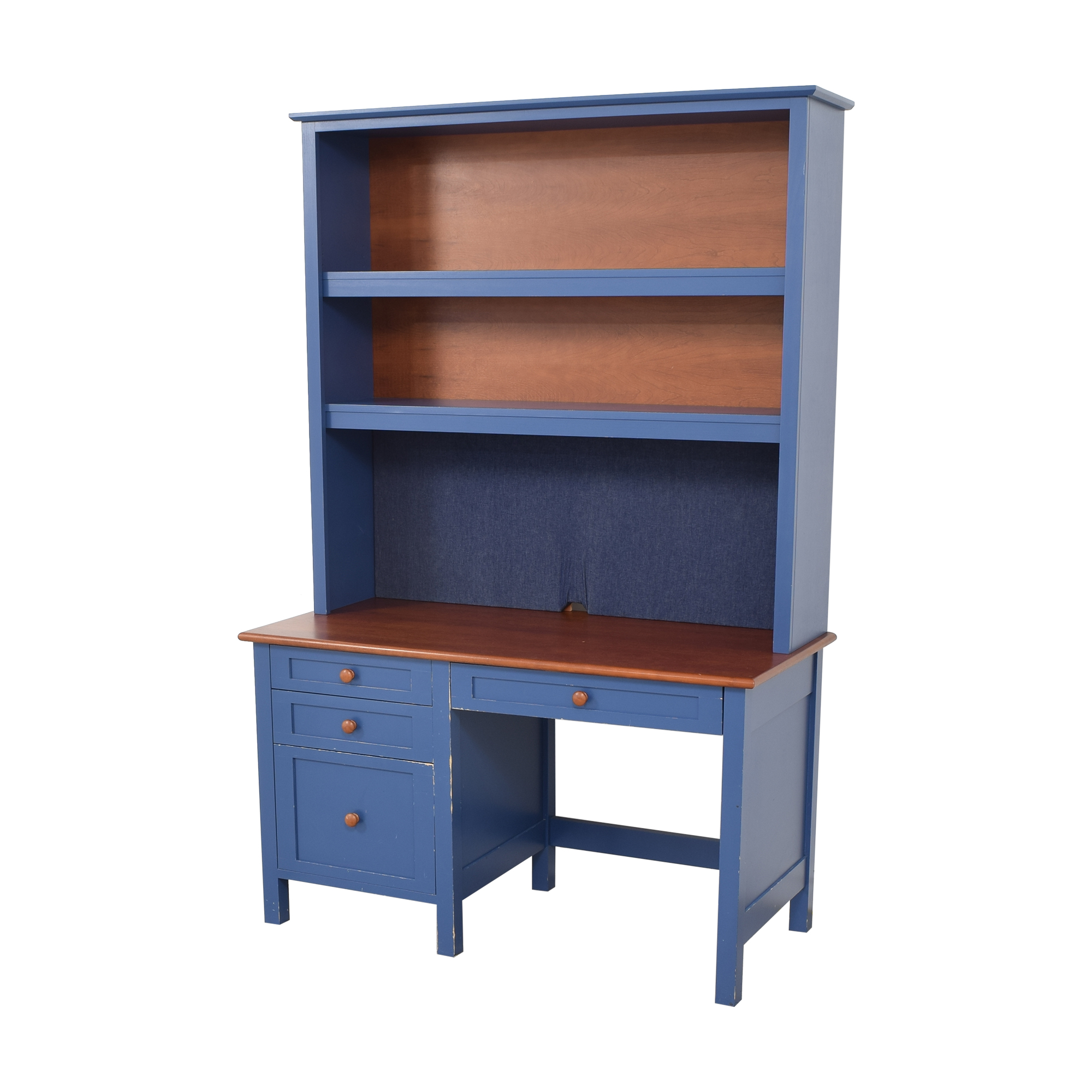 Four Drawer Desk with Hutch ct
