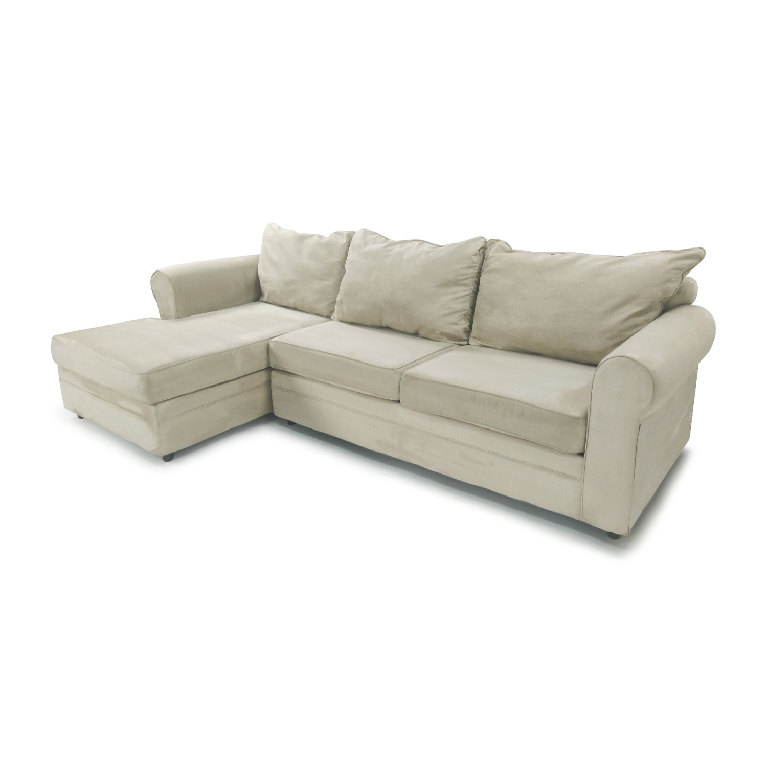 50 off bobs furniture venus 2 piece sectional sofas for Bobs used furniture