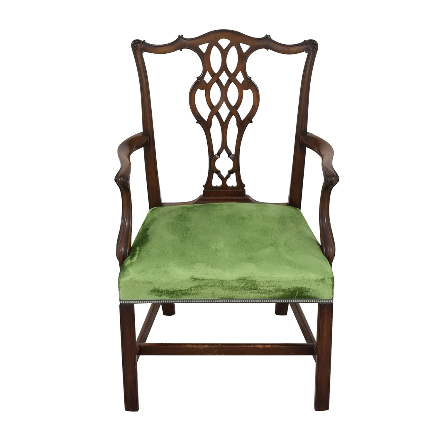 Chippendale Style Dining Arm Chair dimensions