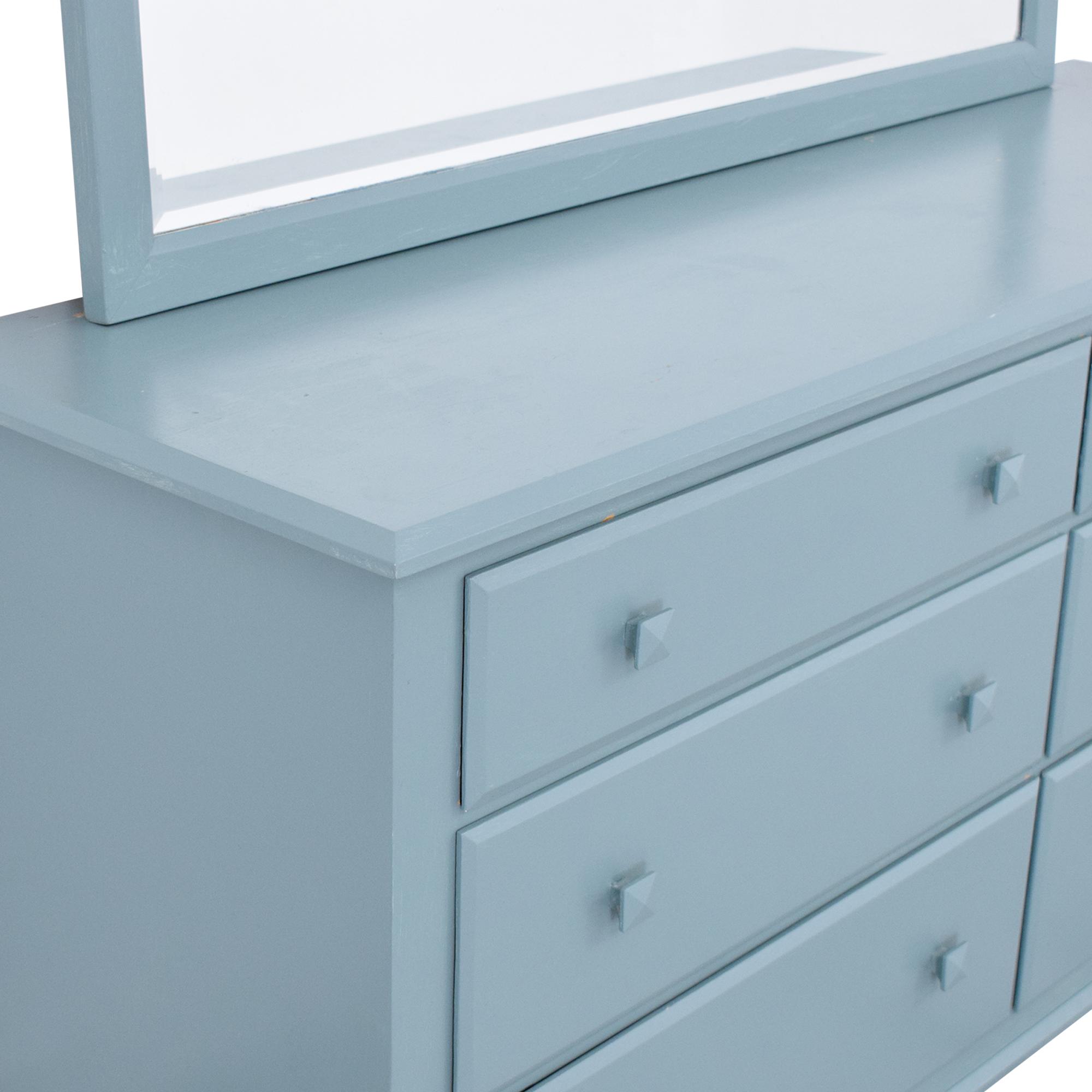 Ethan Allen Ethan Allen American Dimensions Dresser with Mirror Storage