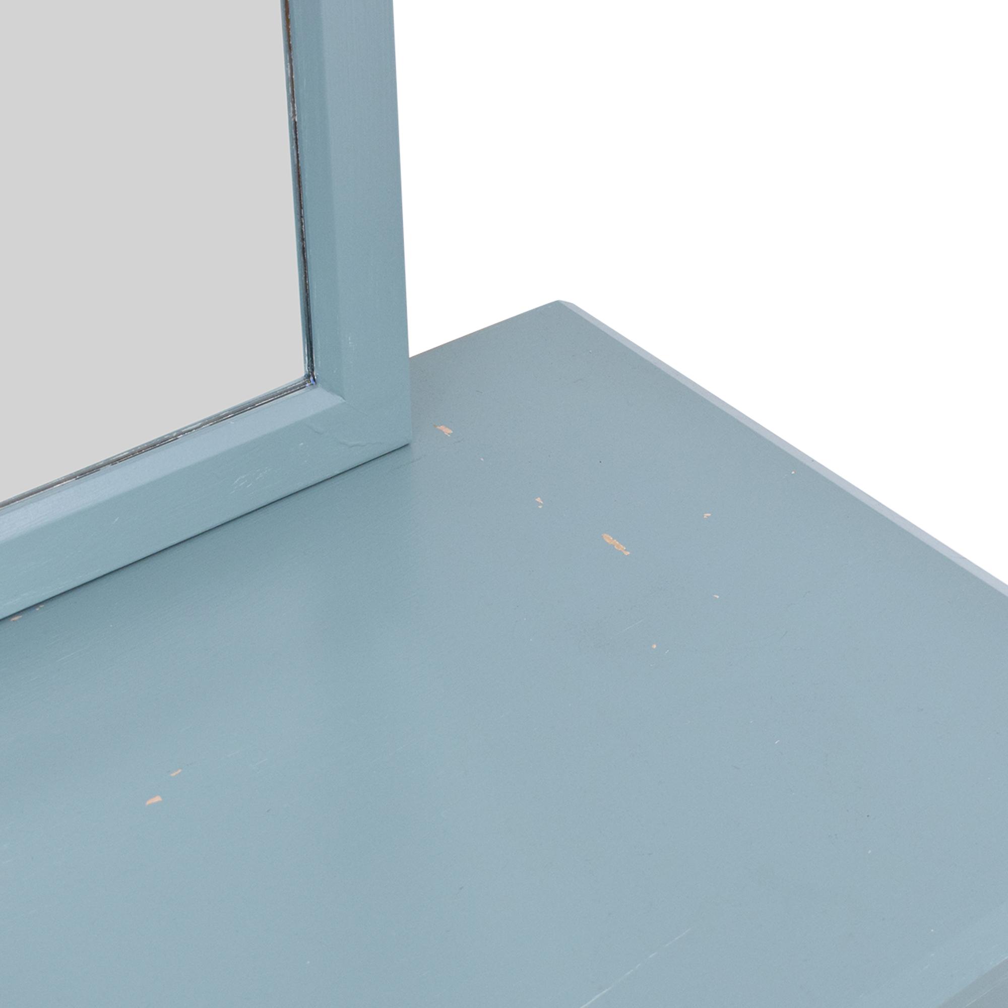 Ethan Allen Ethan Allen American Dimensions Dresser with Mirror light blue