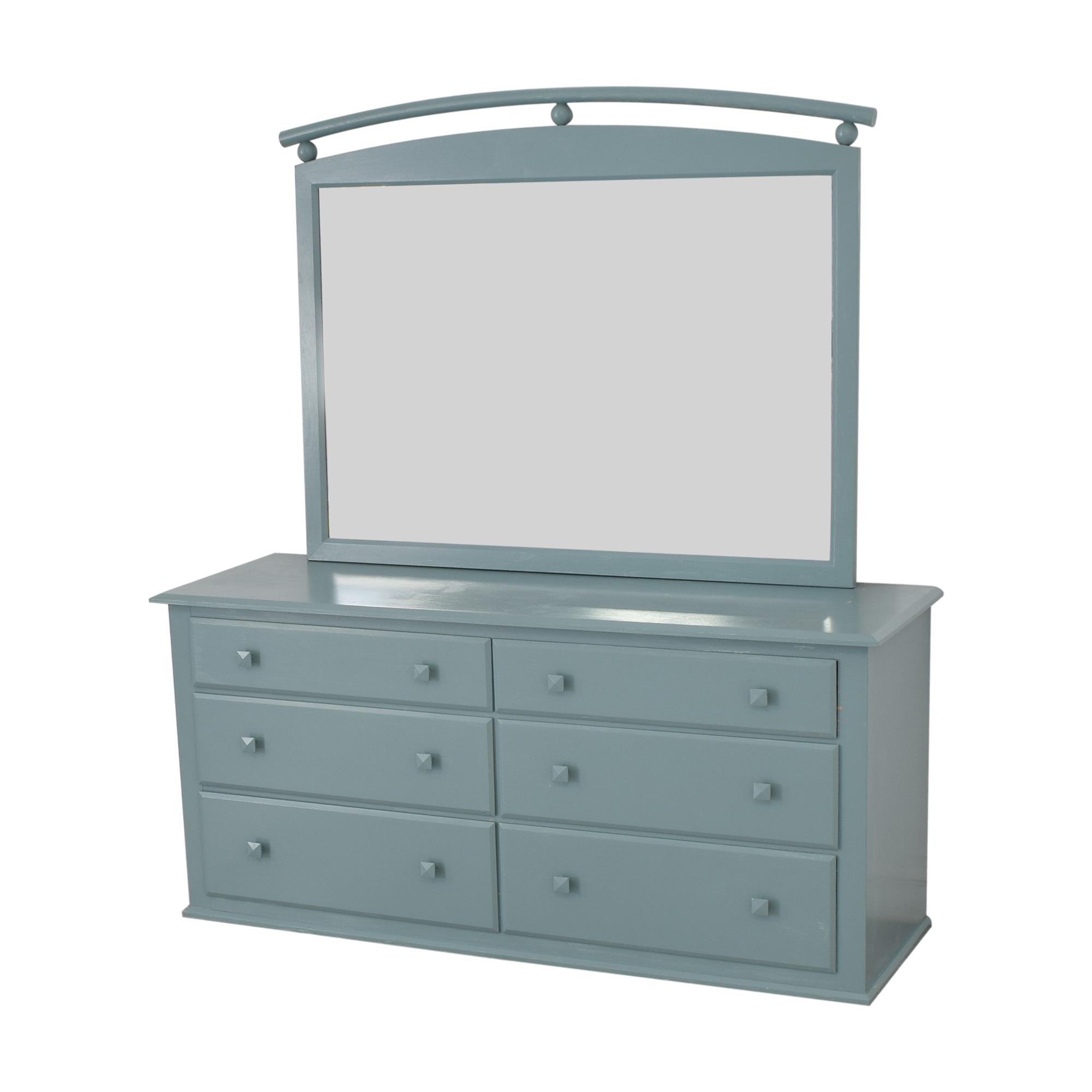 shop Ethan Allen American Dimensions Dresser with Mirror Ethan Allen Dressers
