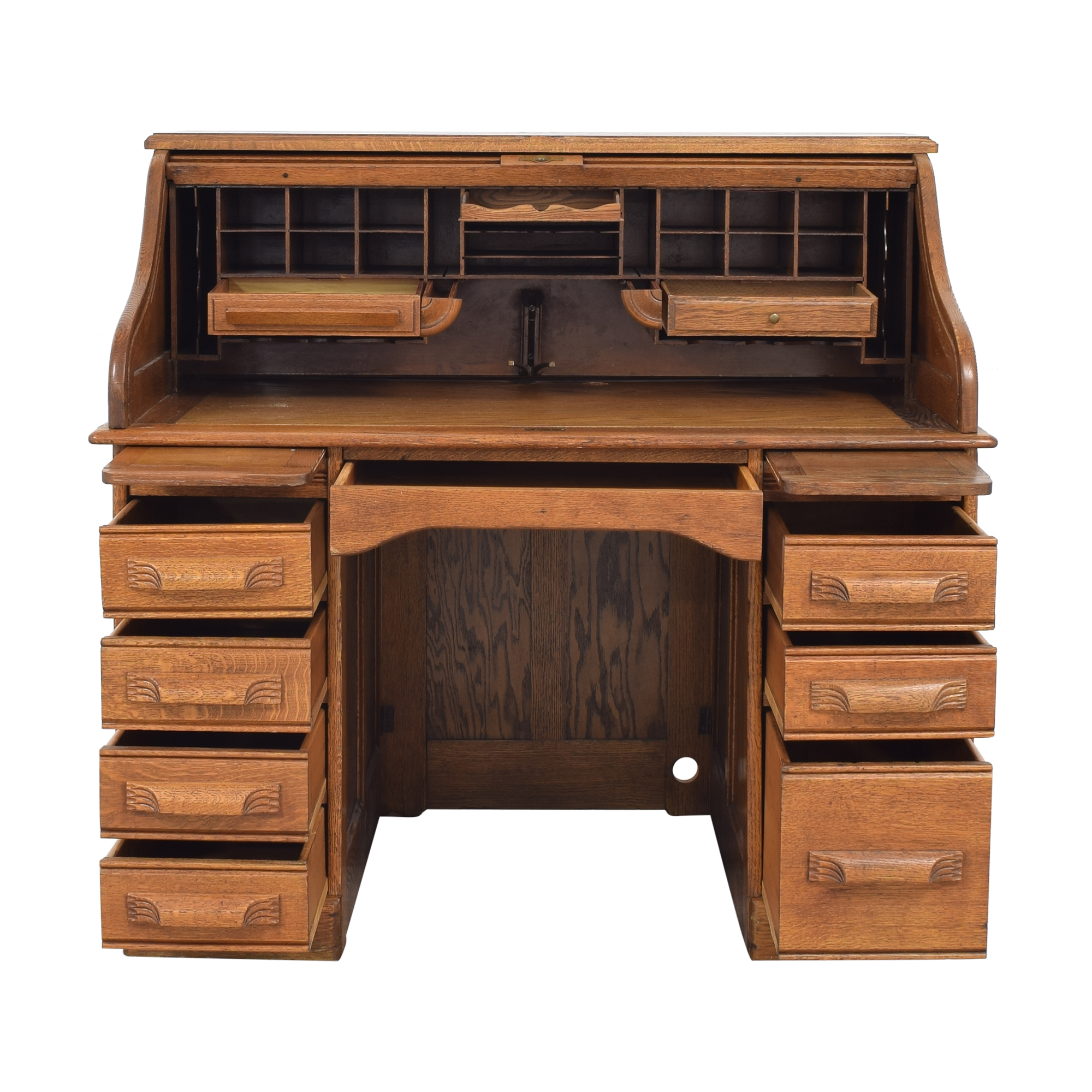 74% OFF - Antique S Curve Roll Office Desk / Tables