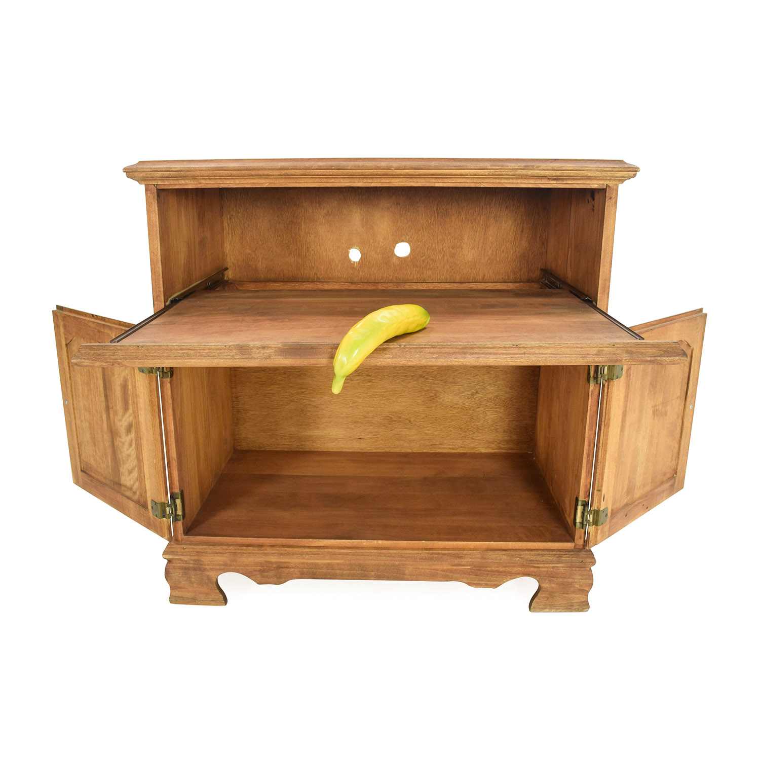 84 Off Solid Wood Console Table Storage