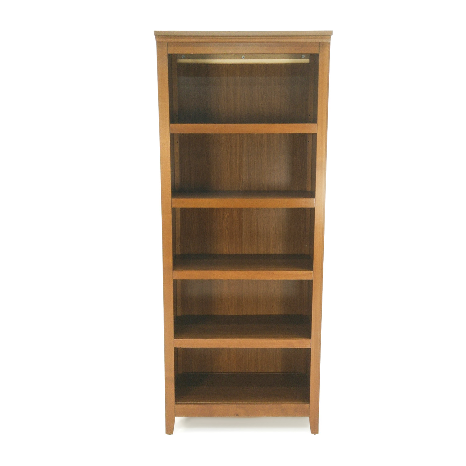 47% OFF - Brennon Brennon Five-Shelf Rustic Wood Bookshelves / Storage