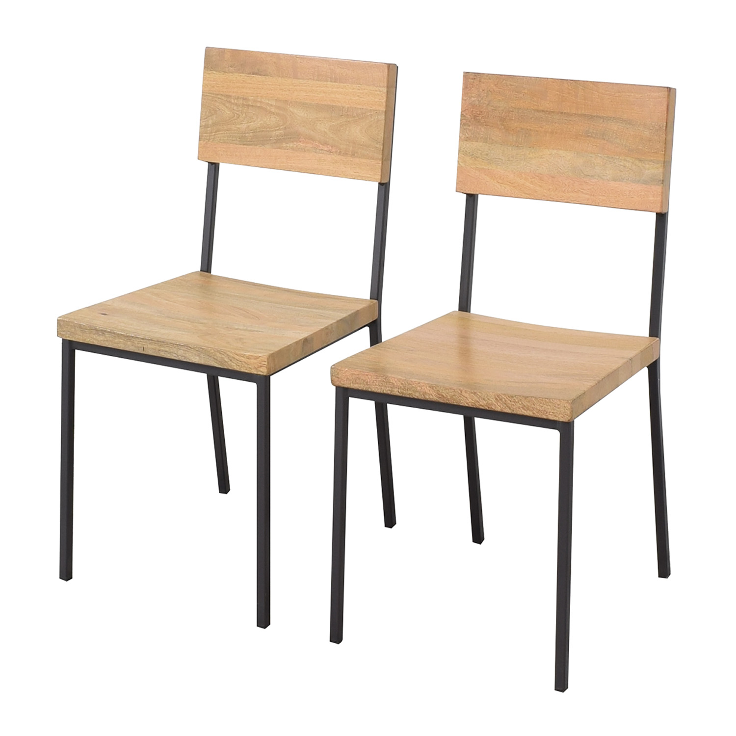 West Elm West Elm Rustic Dining Chairs second hand