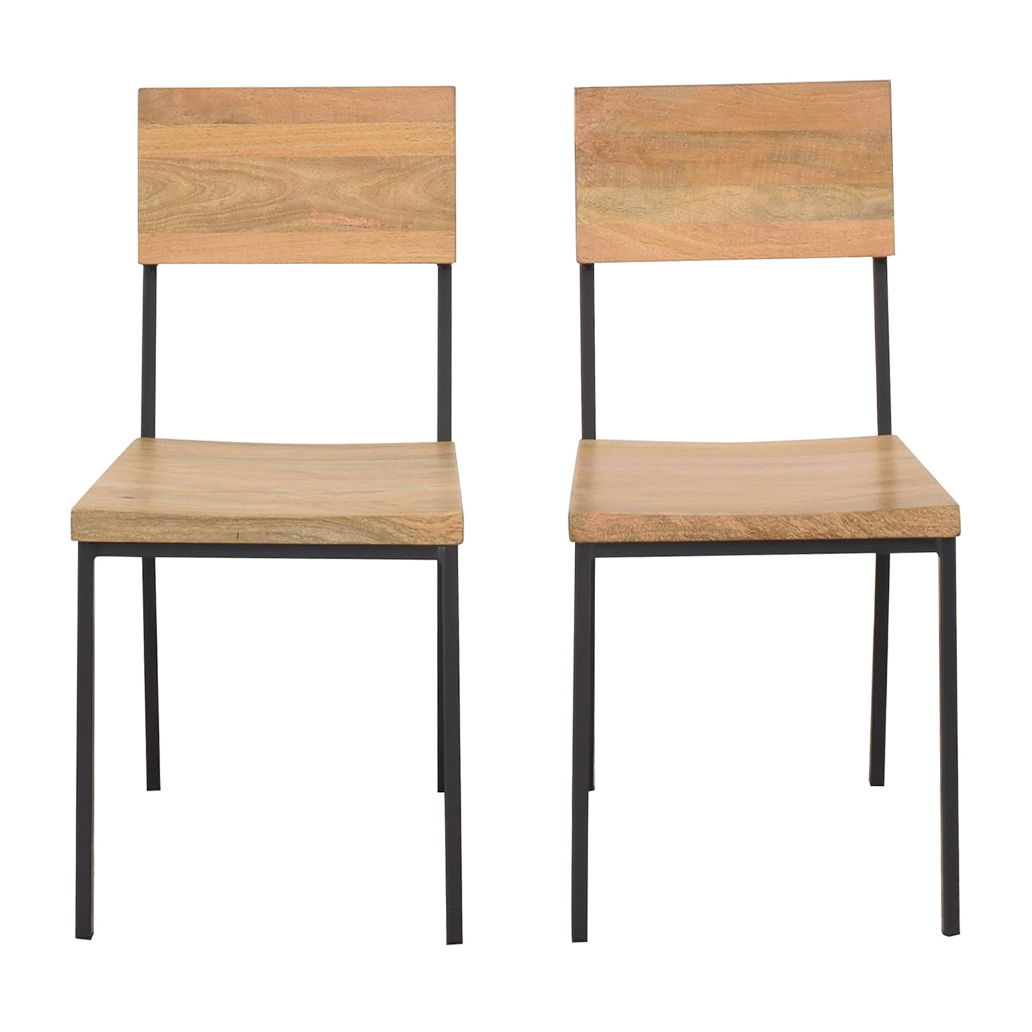 shop West Elm Rustic Dining Chairs West Elm Dining Chairs