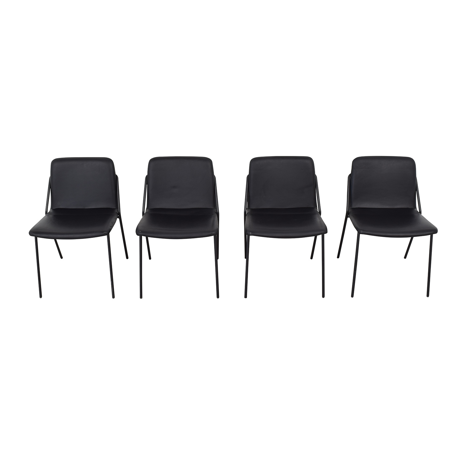 m.a.d. m.a.d. Black Sling Upholstered Chairs for sale